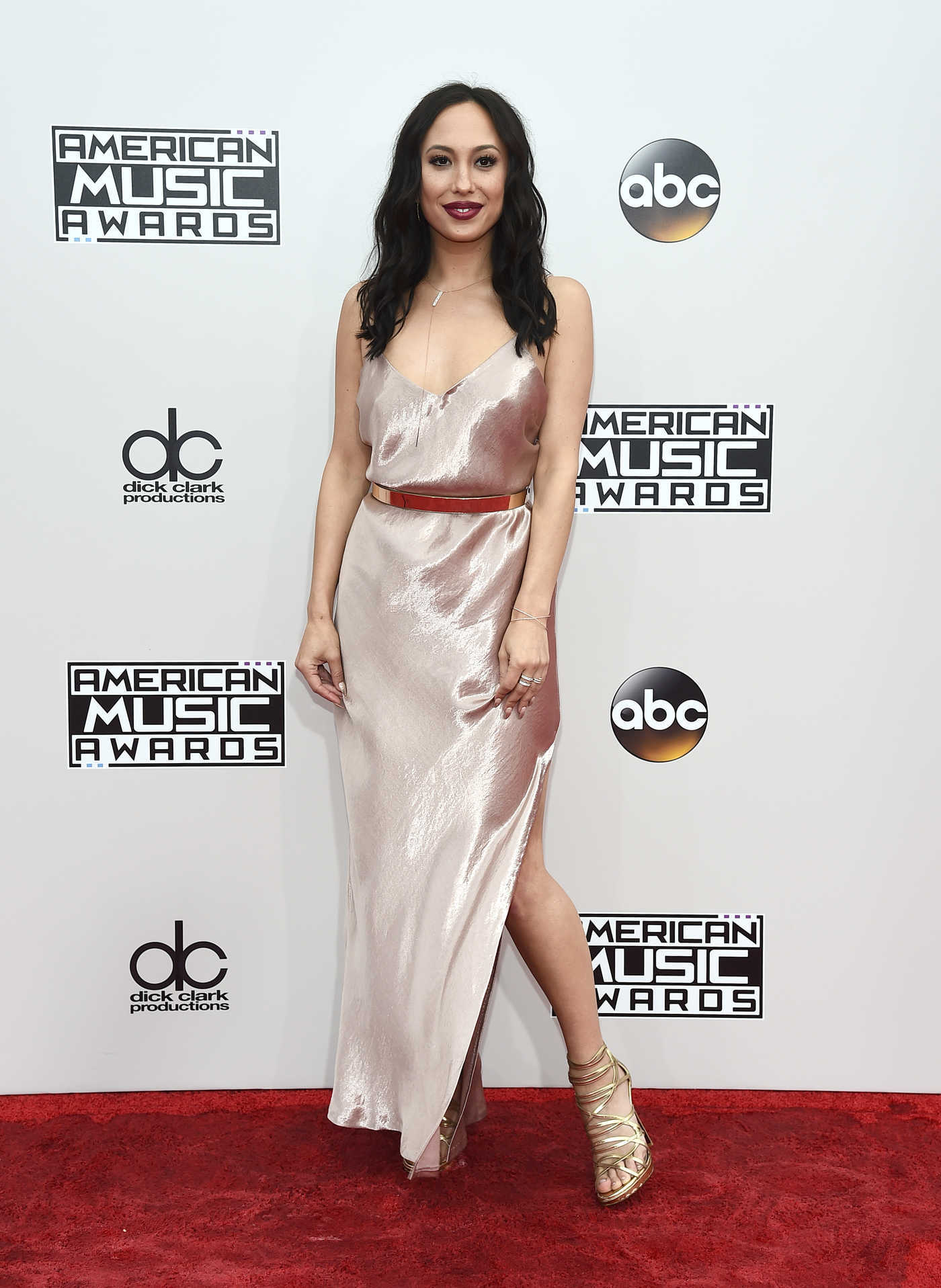 Cheryl Burke at the 2016 American Music Awards at the Microsoft Theater in Los Angeles 11/20/2016
