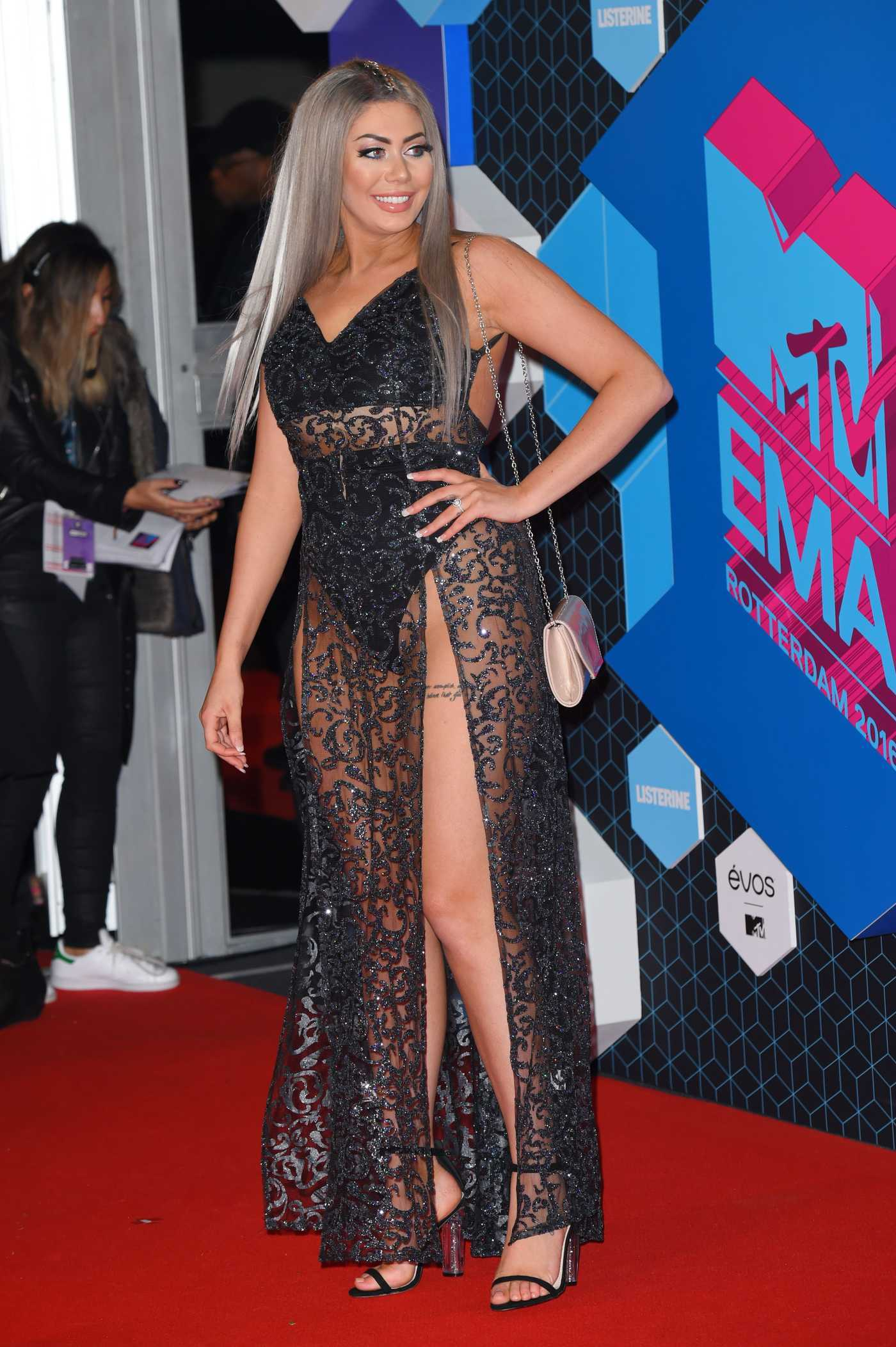 Chloe Ferry at the MTV Europe Music Awards in Rotterdam 11/06/2016