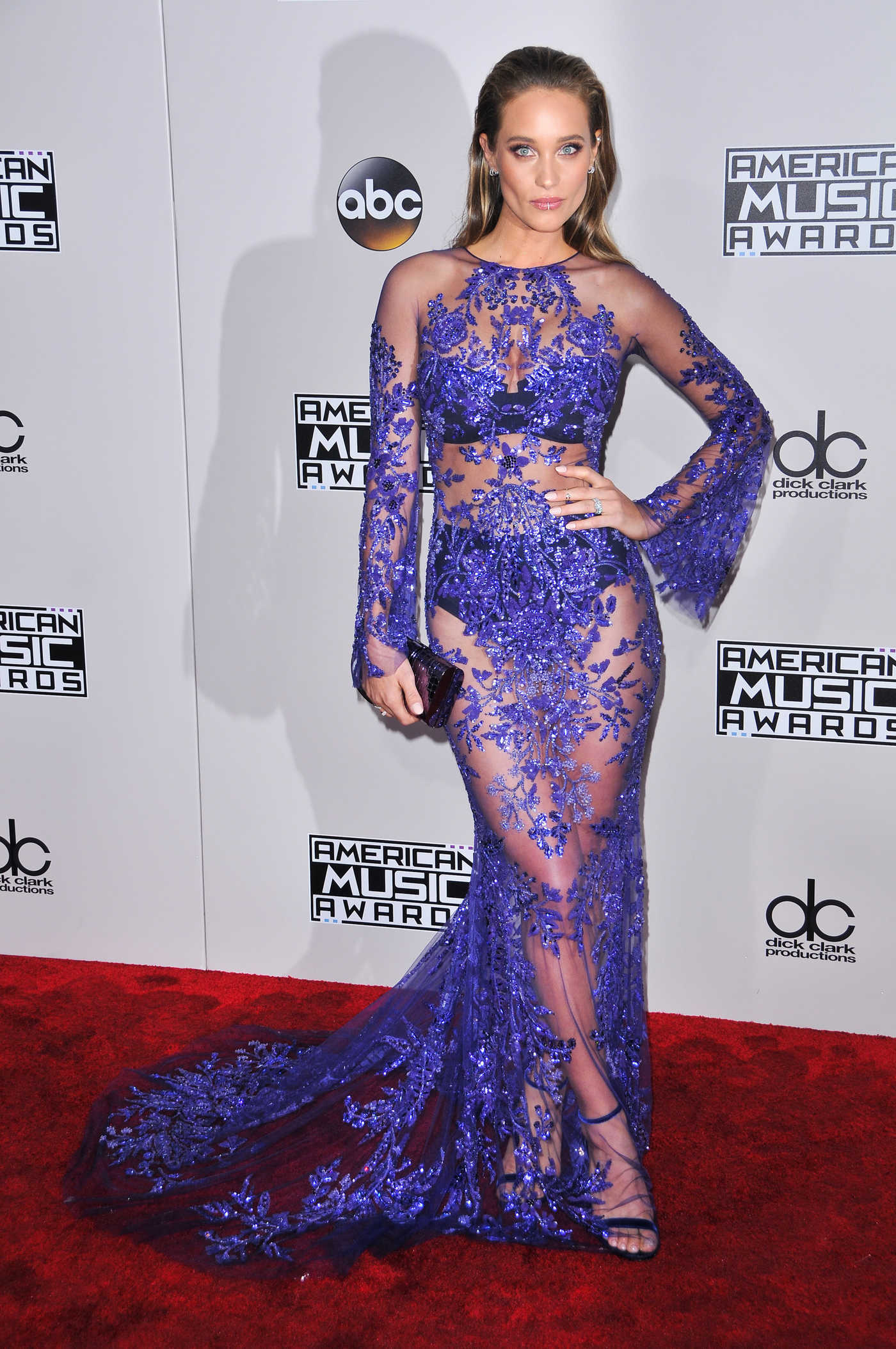 Hannah Davis at the 2016 American Music Awards at the Microsoft Theater in Los Angeles 11/20/2016