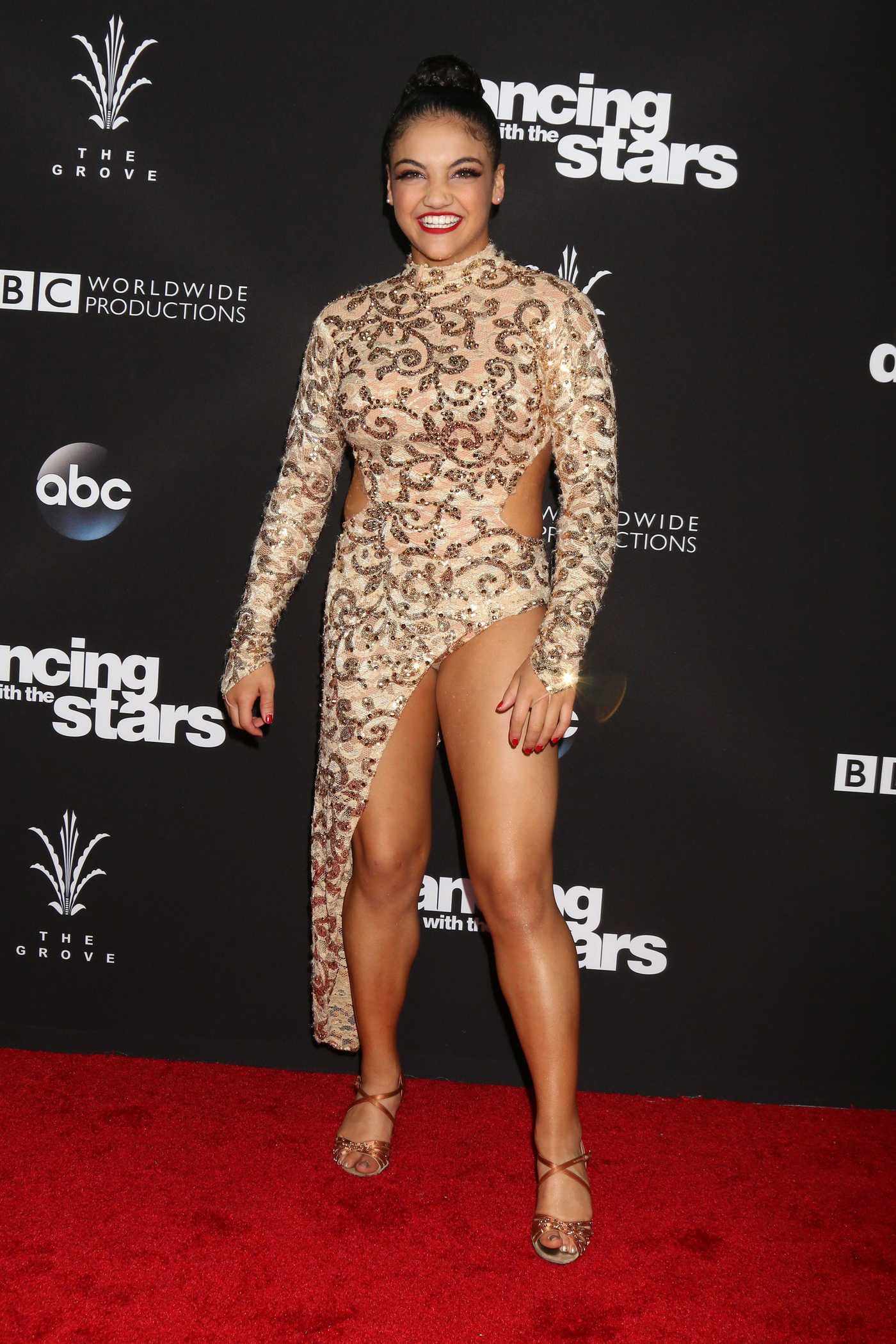 Laurie Hernandez at the ABC's Season 23 Dancing With The Stars 11/22/2016