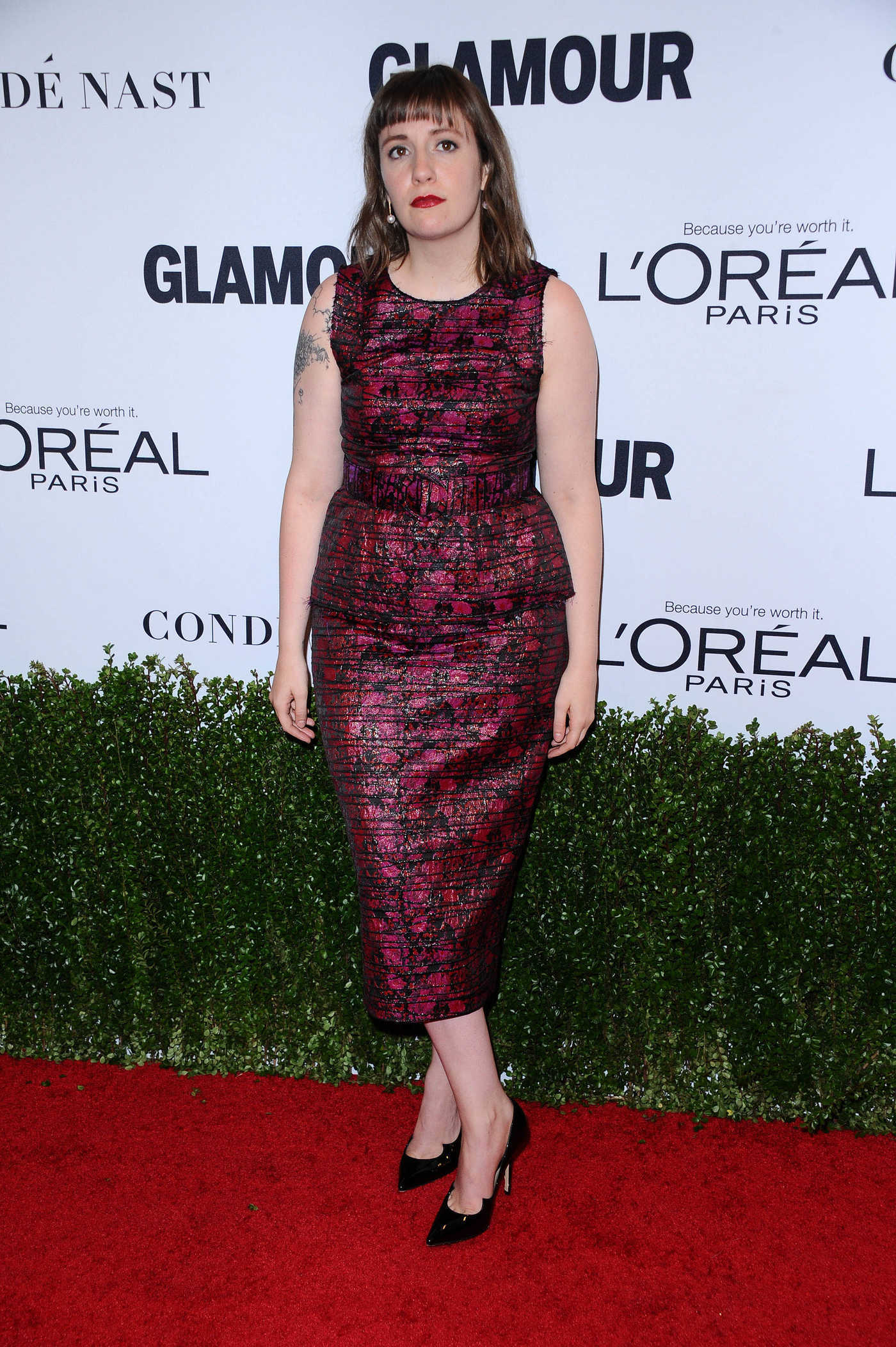 Lena Dunham at the Glamour Women of The Year Awards in Los Angeles 11/14/2016