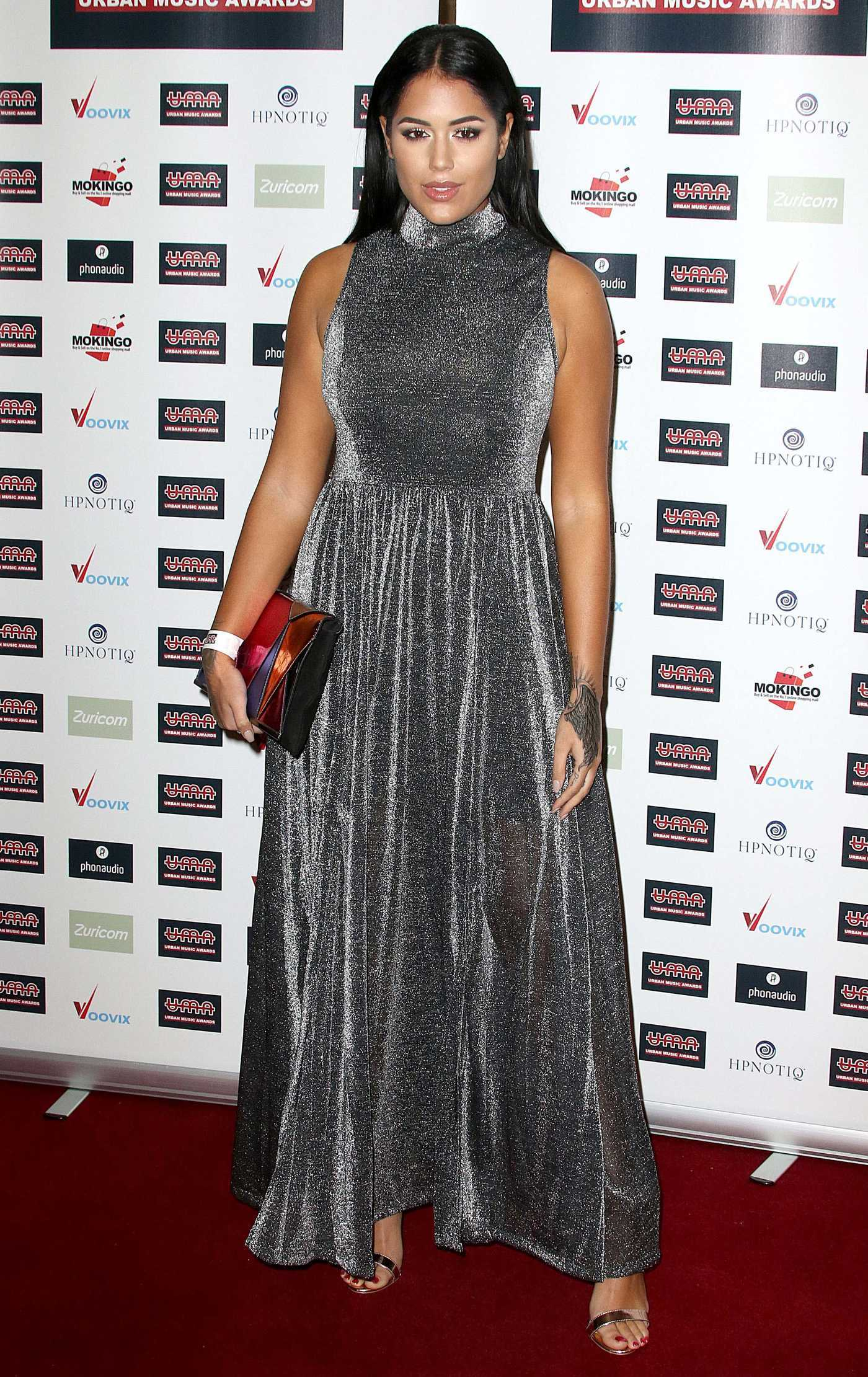 Malin Andersson at the 2016 Urban Music Awards in London 11/26/2016