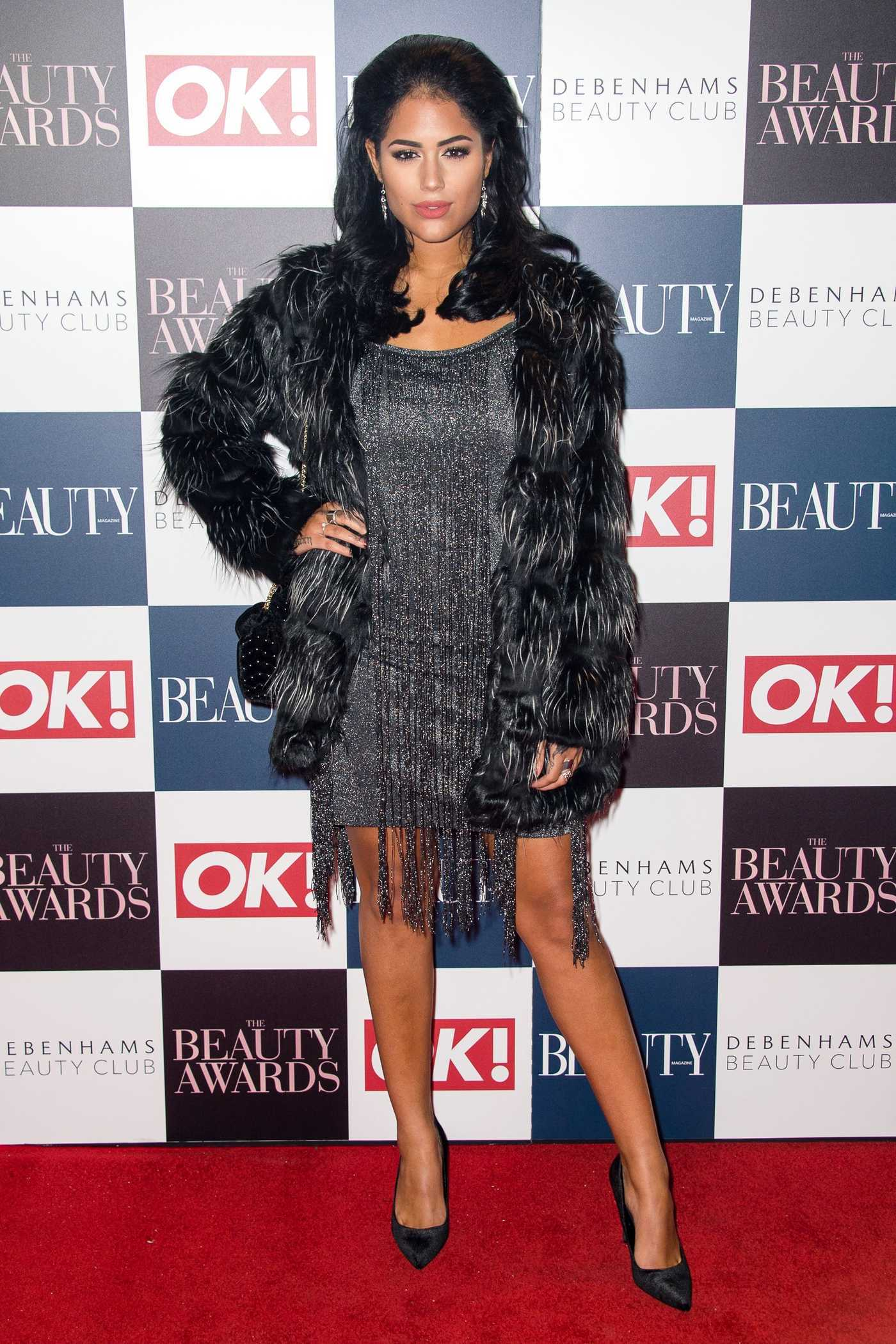 Malin Andersson at the Beauty Awards in London 11/24/2016