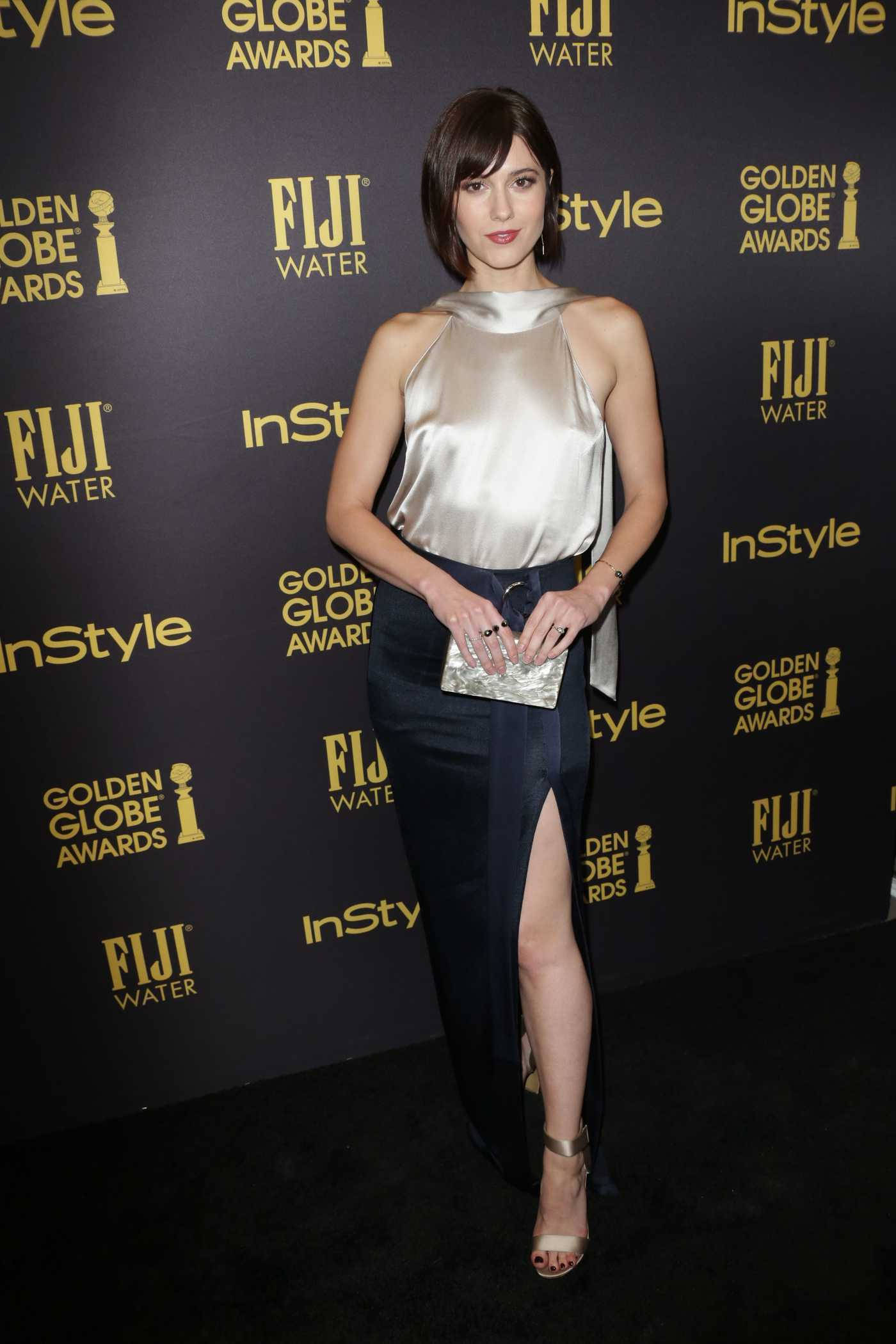 Mary Elizabeth Winstead at the HFPA and InStyles Celebration of the 2017 Golden Globe Awards Season in West Hollywood 11/10/2016