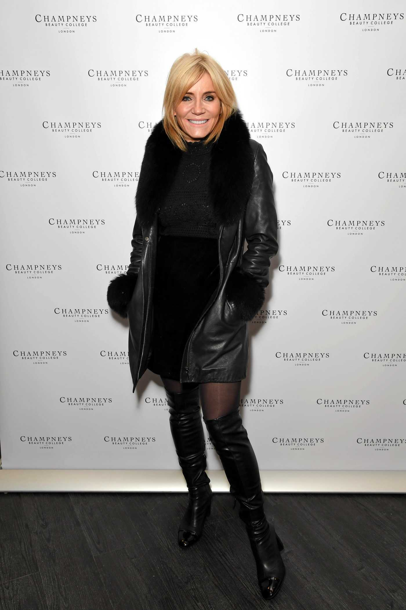 Michelle Collins at the Champneys Beauty College Launch at Holborn Circus in London 11/25/2016