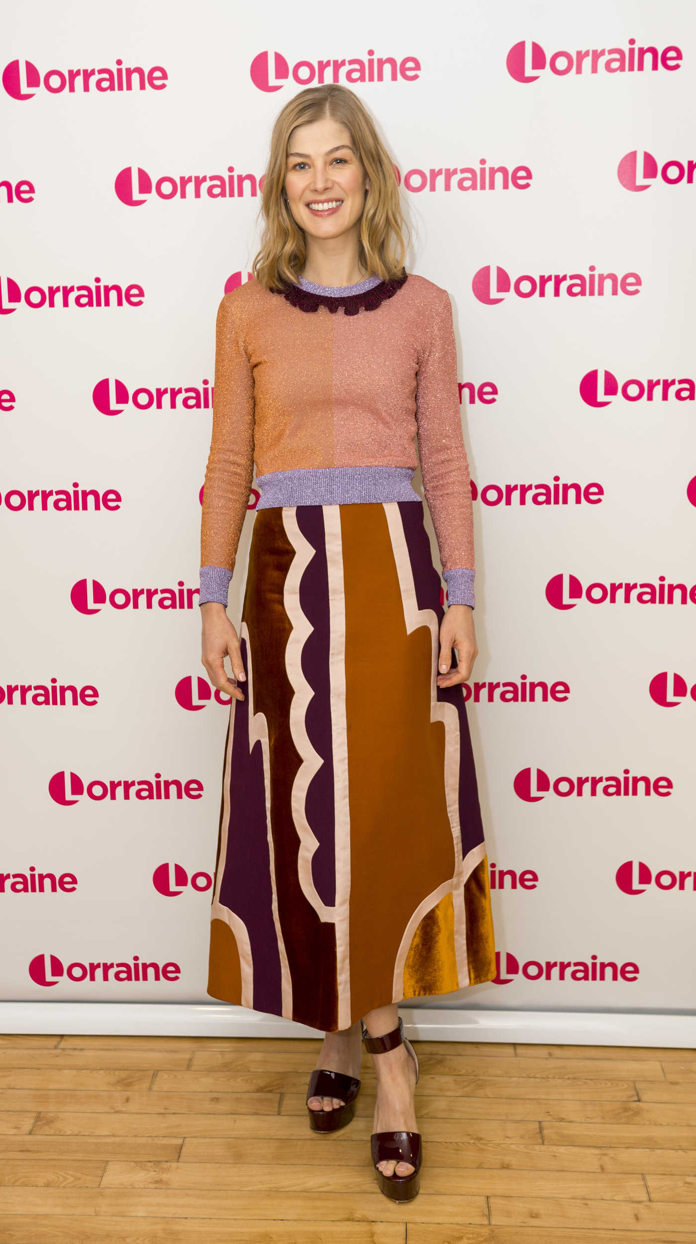 Rosamund Pike at the Lorraine TV Show in London 11/23/2016