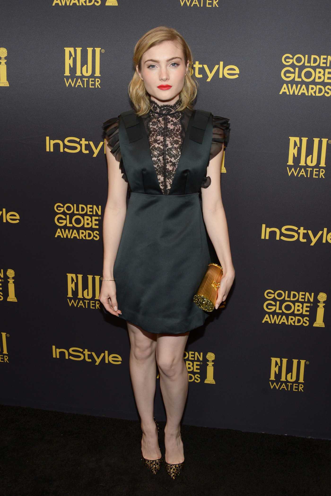 Skyler Samuels at the HFPA and InStyles Celebration of the 2017 Golden Globe Awards Season in West Hollywood 11/10/2016