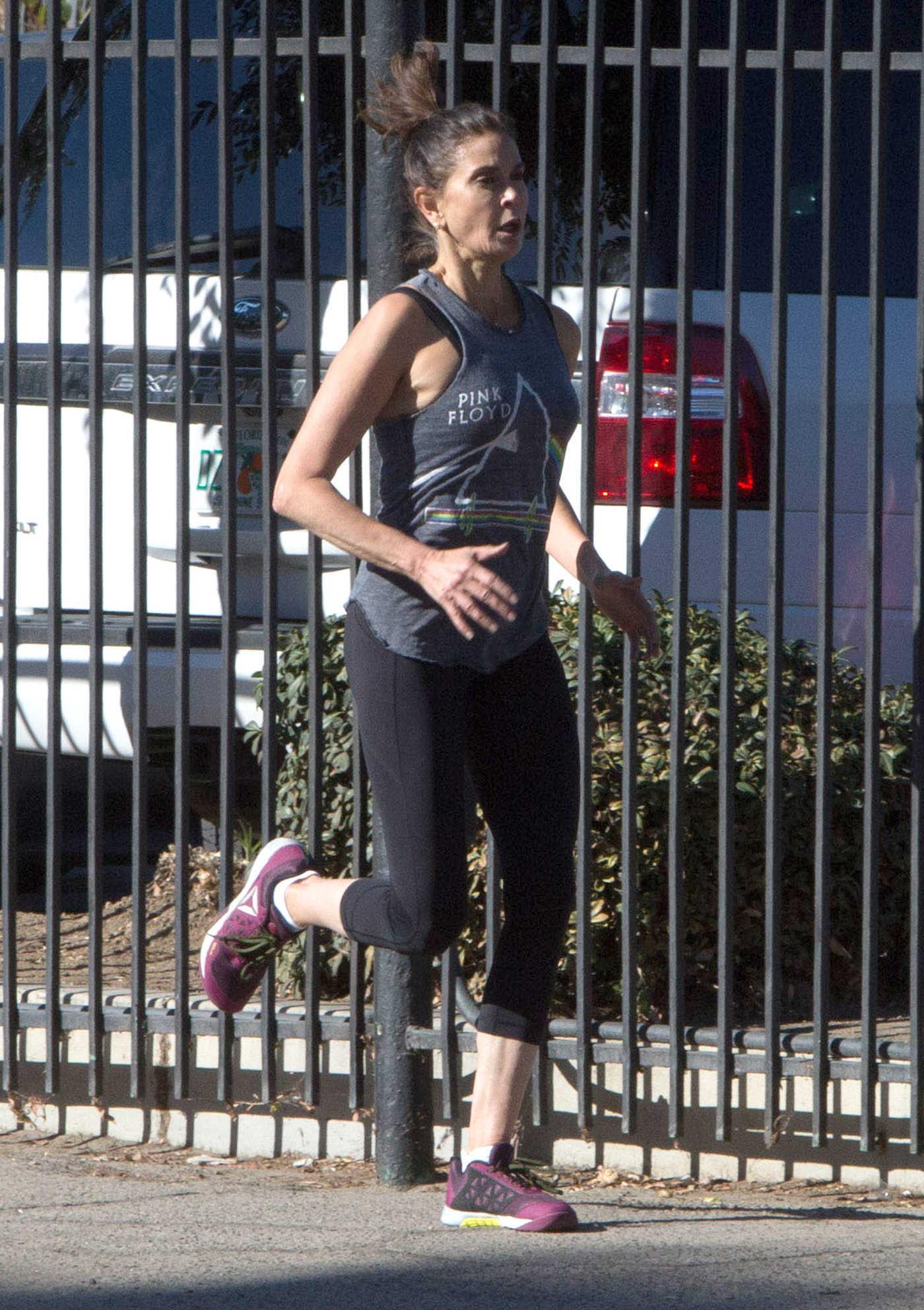 Teri Hatcher Jogging in Los Angeles 11/02/2016