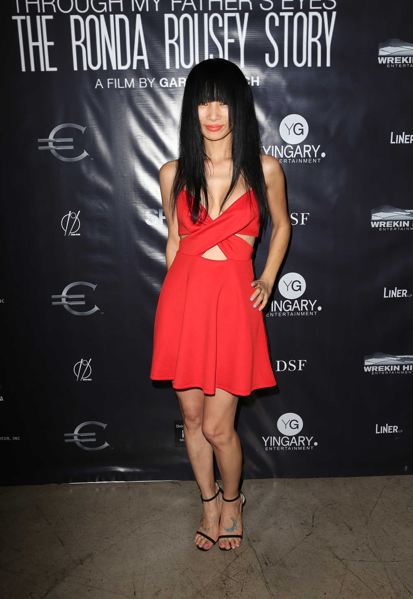Bai Ling at the Through My Father's Eyes: The Ronda Rousey Story Premiere at Chinese Mann Theater in Hollywood 12/30/2016