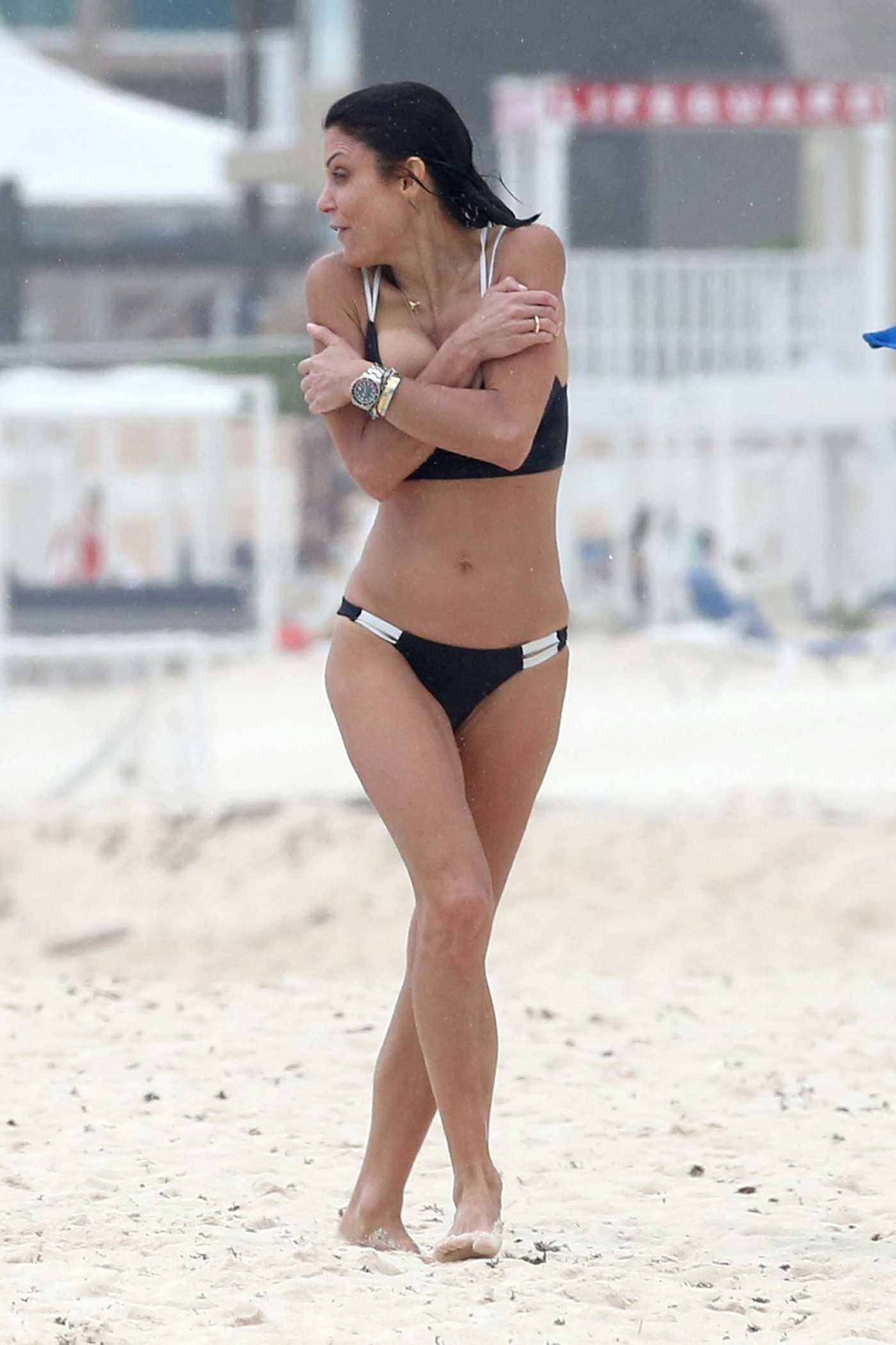 Bethenny Frankel in Bikini at the Beach in Playa del Carmen, Mexico 12/30/2016