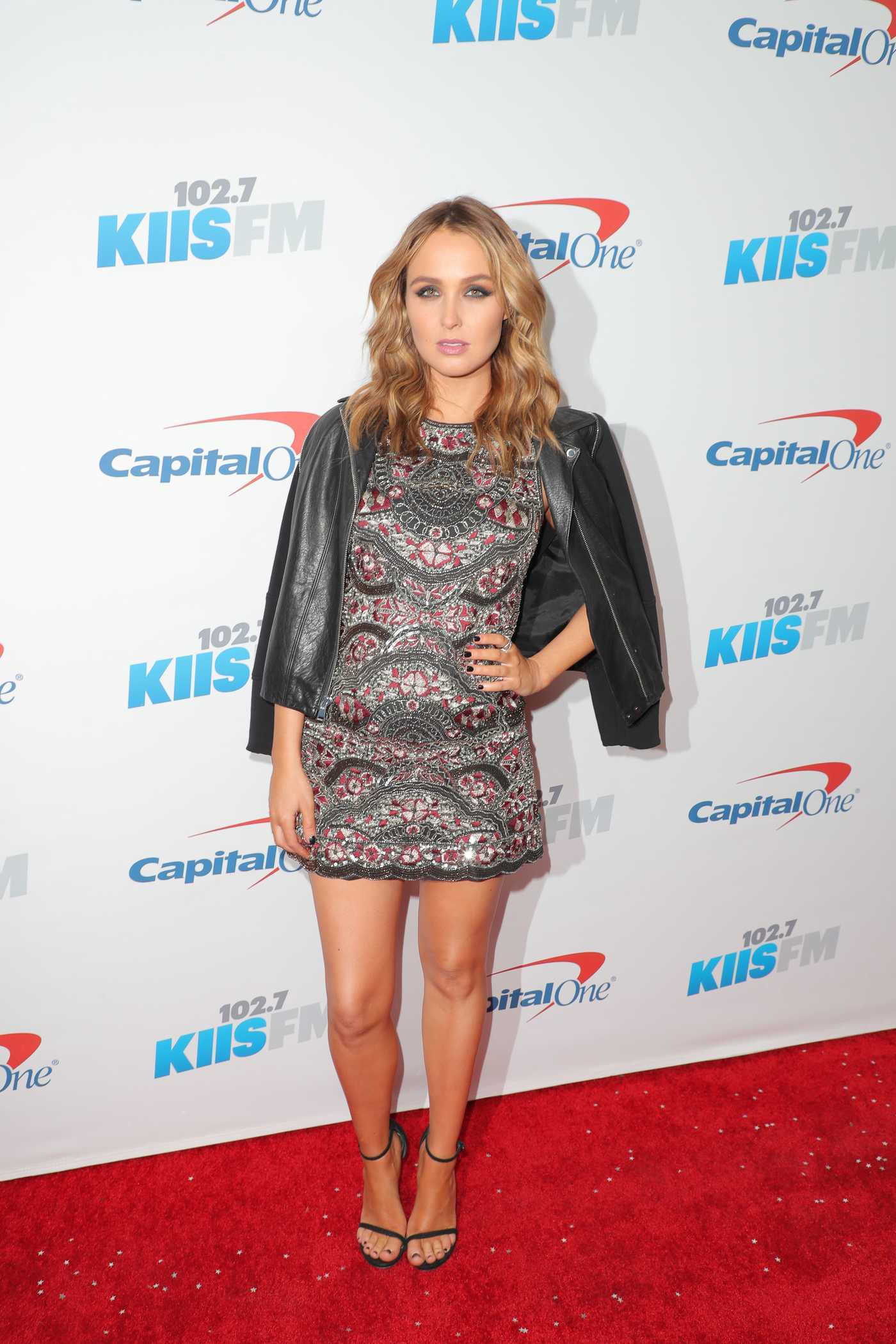 Camilla Luddington at iHeartRadio Jingle Ball at the Staples Center in Los Angeles 12/02/2016