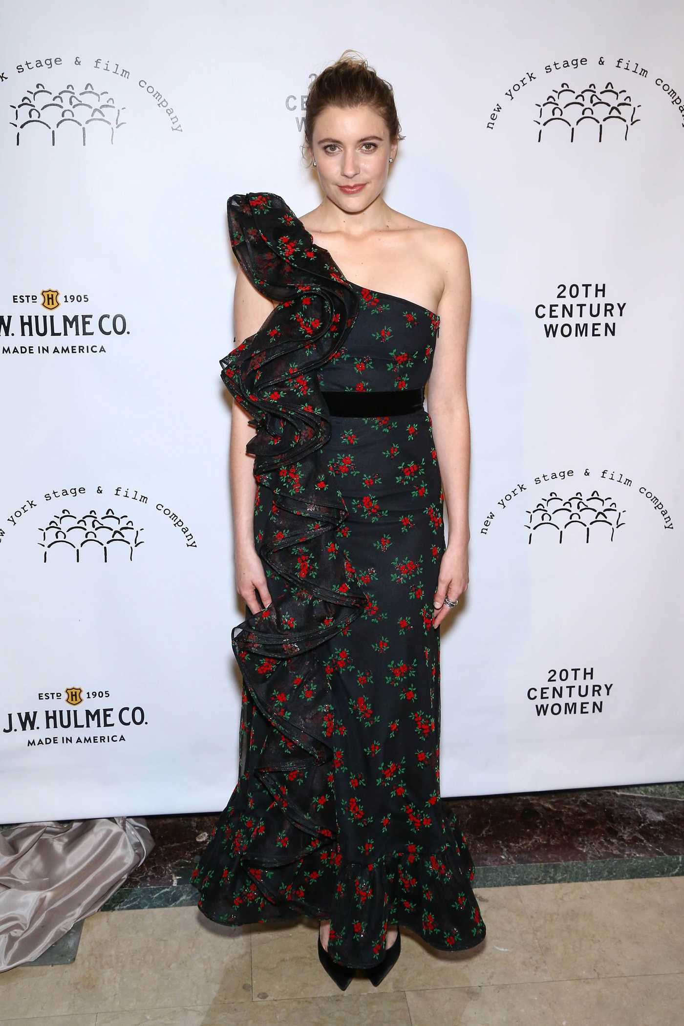 Greta Gerwig at the Stage and Film Winter Gala in New York 12/04/2016