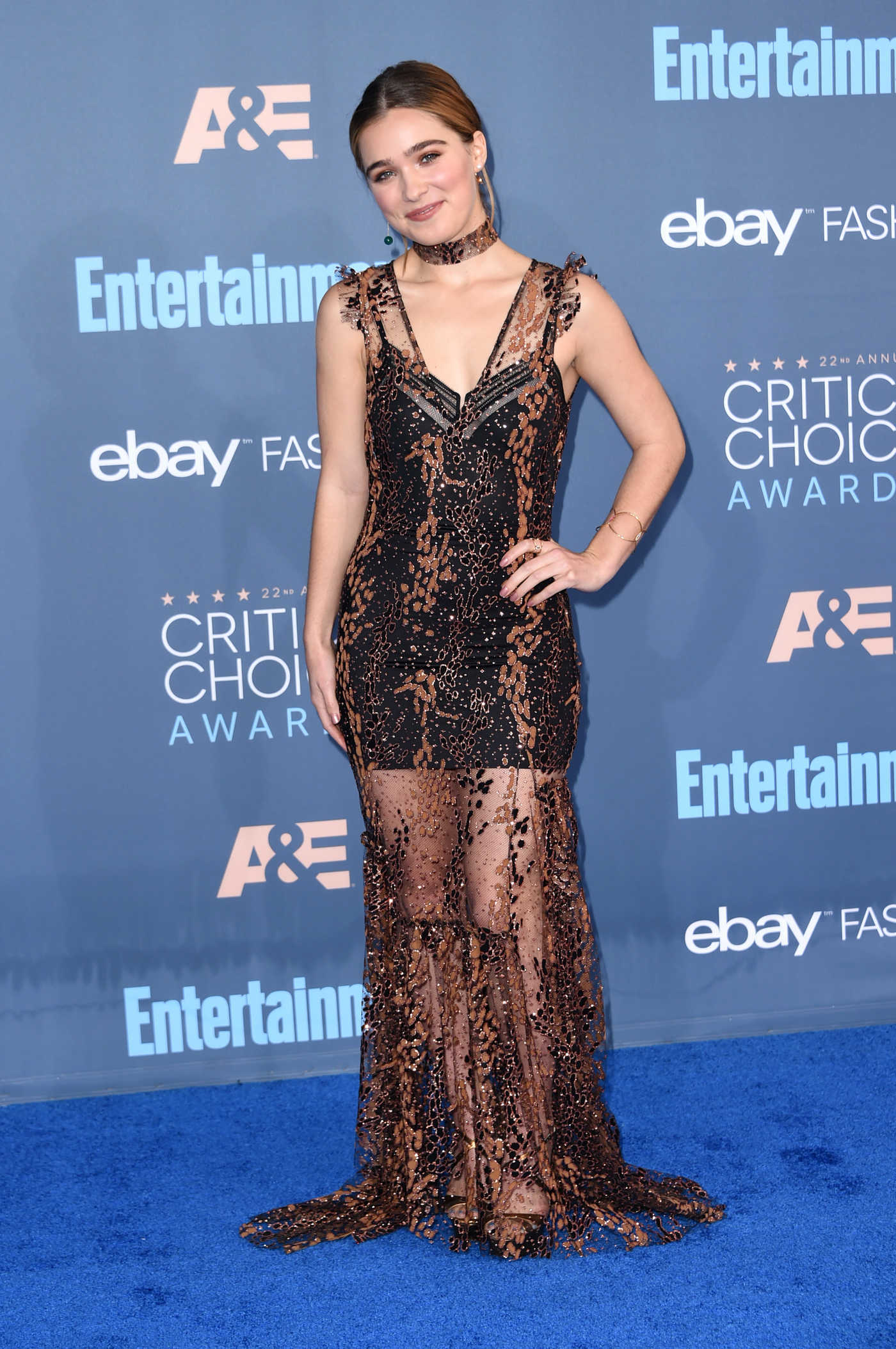 Haley Lu Richardson at the 22nd Annual Critics' Choice Awards in Santa Monica 12/11/2016
