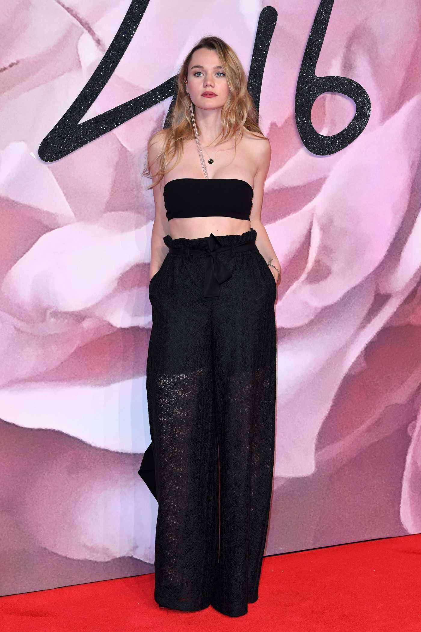 Immy Waterhouse at the 2016 Fashion Awards at Royal Albert Hall in London 12/05/2016