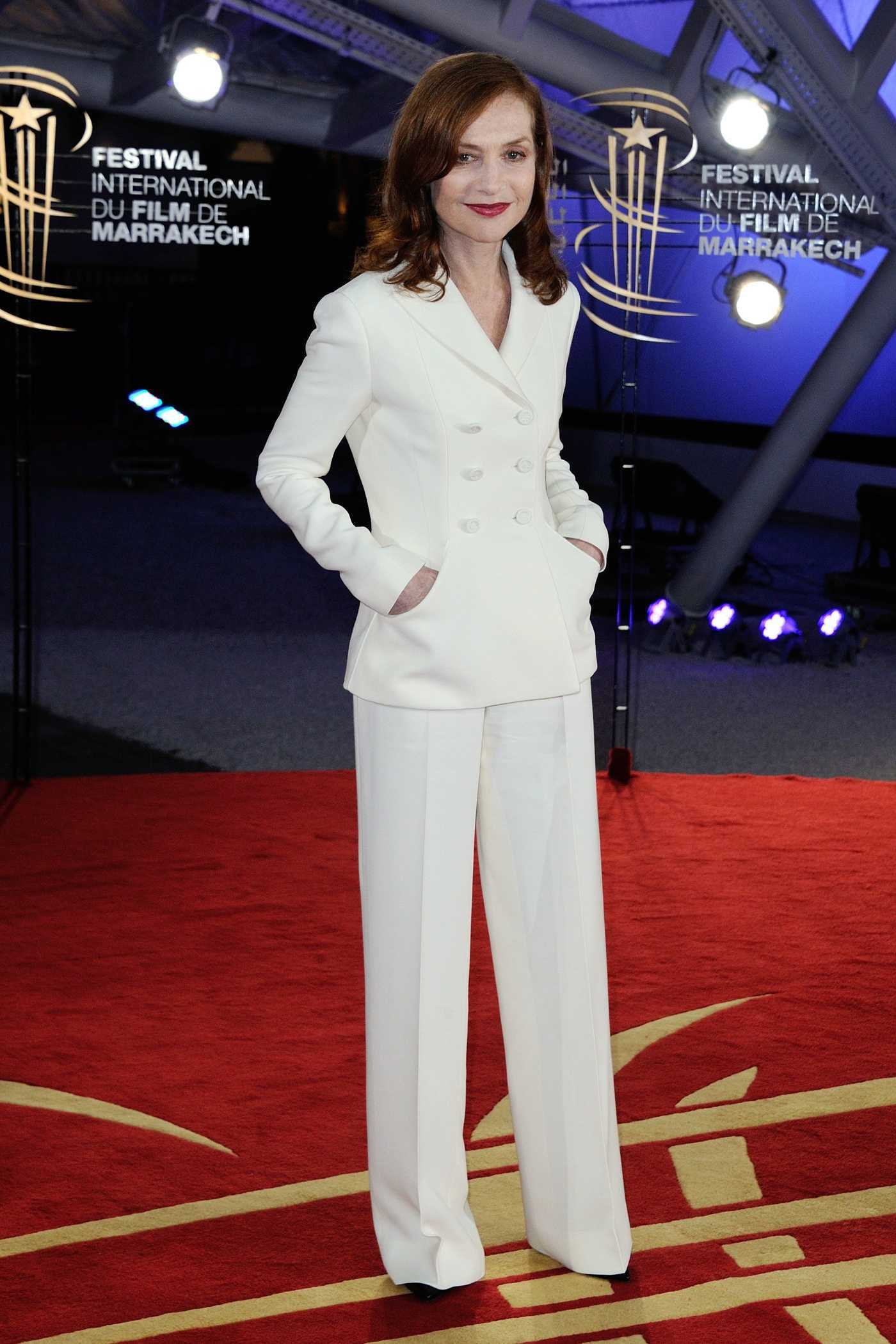 Isabelle Huppert at the 16th Marrakech Film Festival 12/05/2016