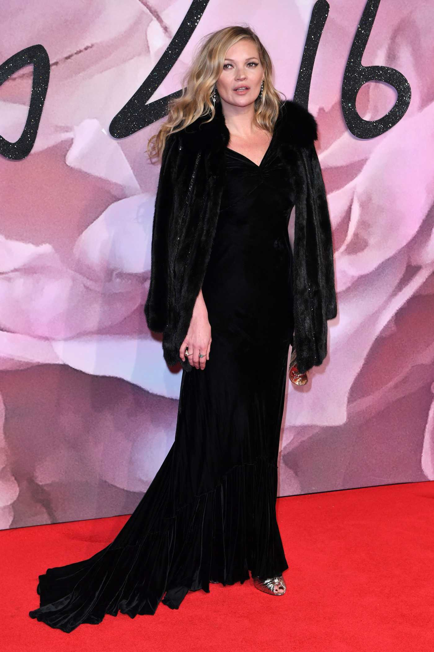 Kate Moss at the 2016 Fashion Awards at Royal Albert Hall in London 12/05/2016