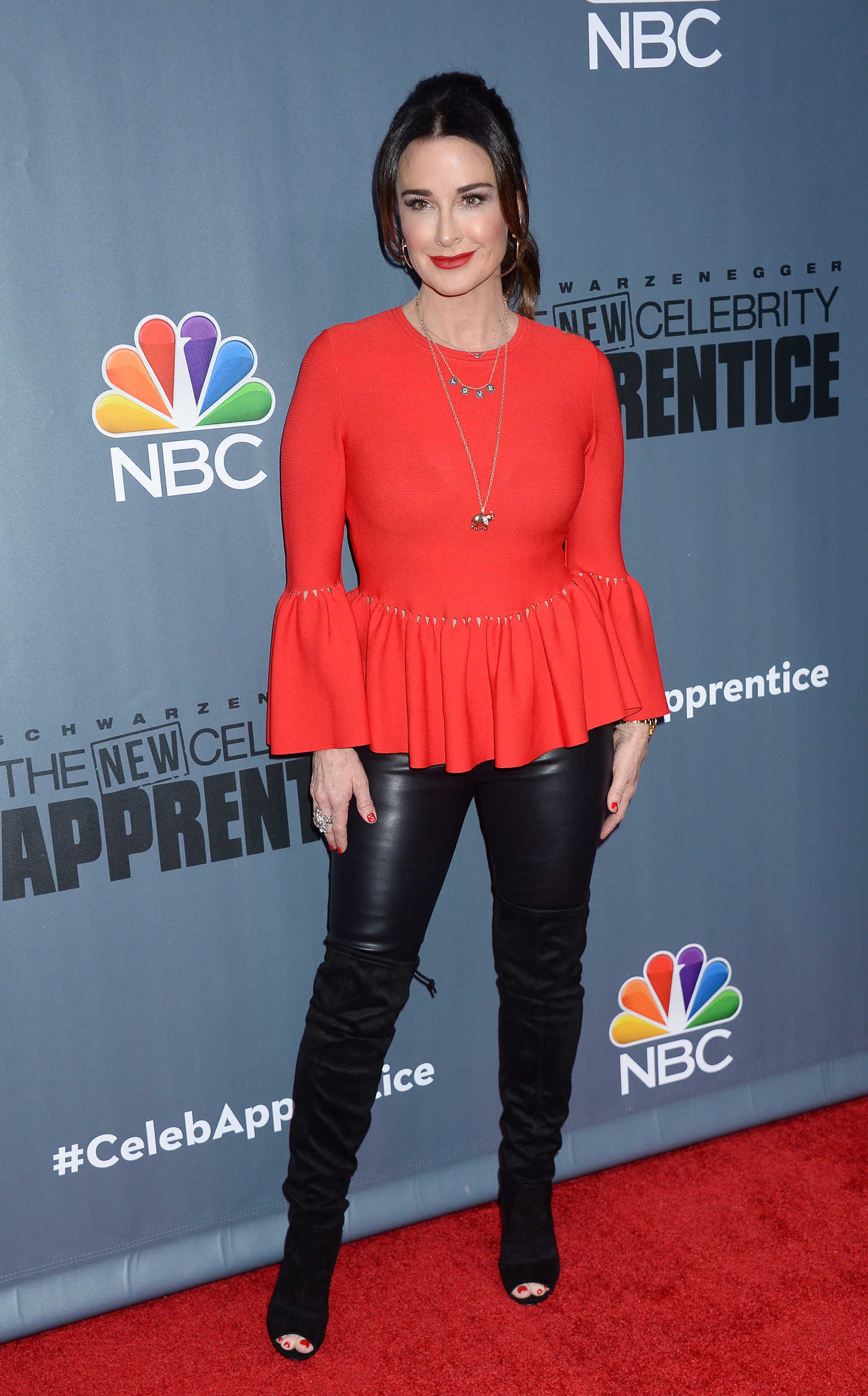 Kyle Richards at the New Celebrity Apprentice Press Conference in Universal City 12/09/2016
