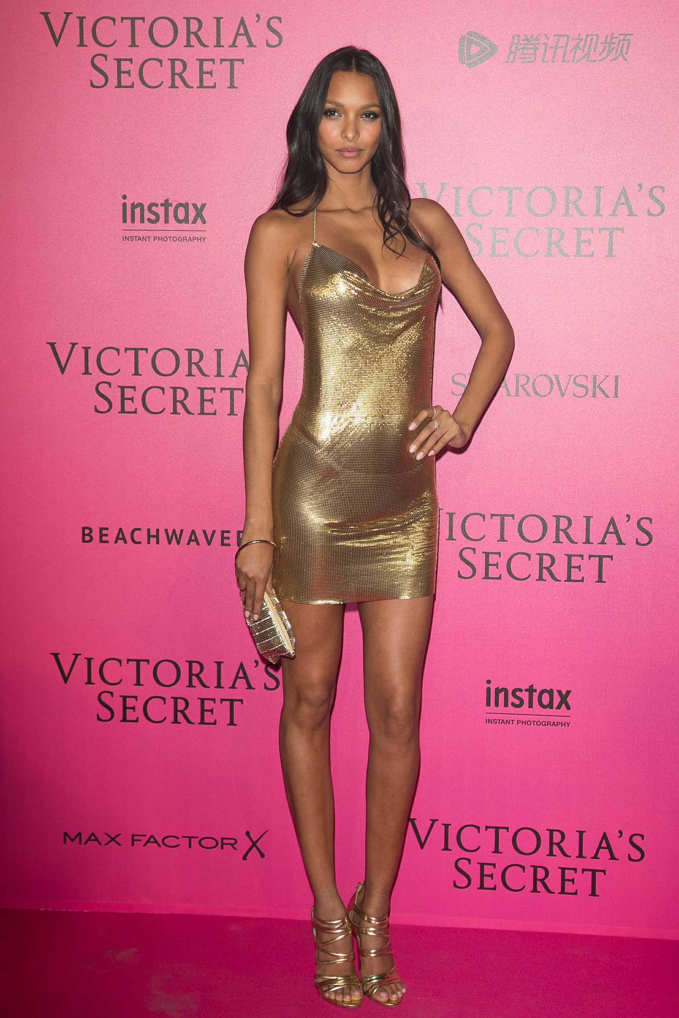Lais Ribeiro at the 2016 Victoria's Secret Fashion Show After Party at Grand Palais in Paris 11/30/2016