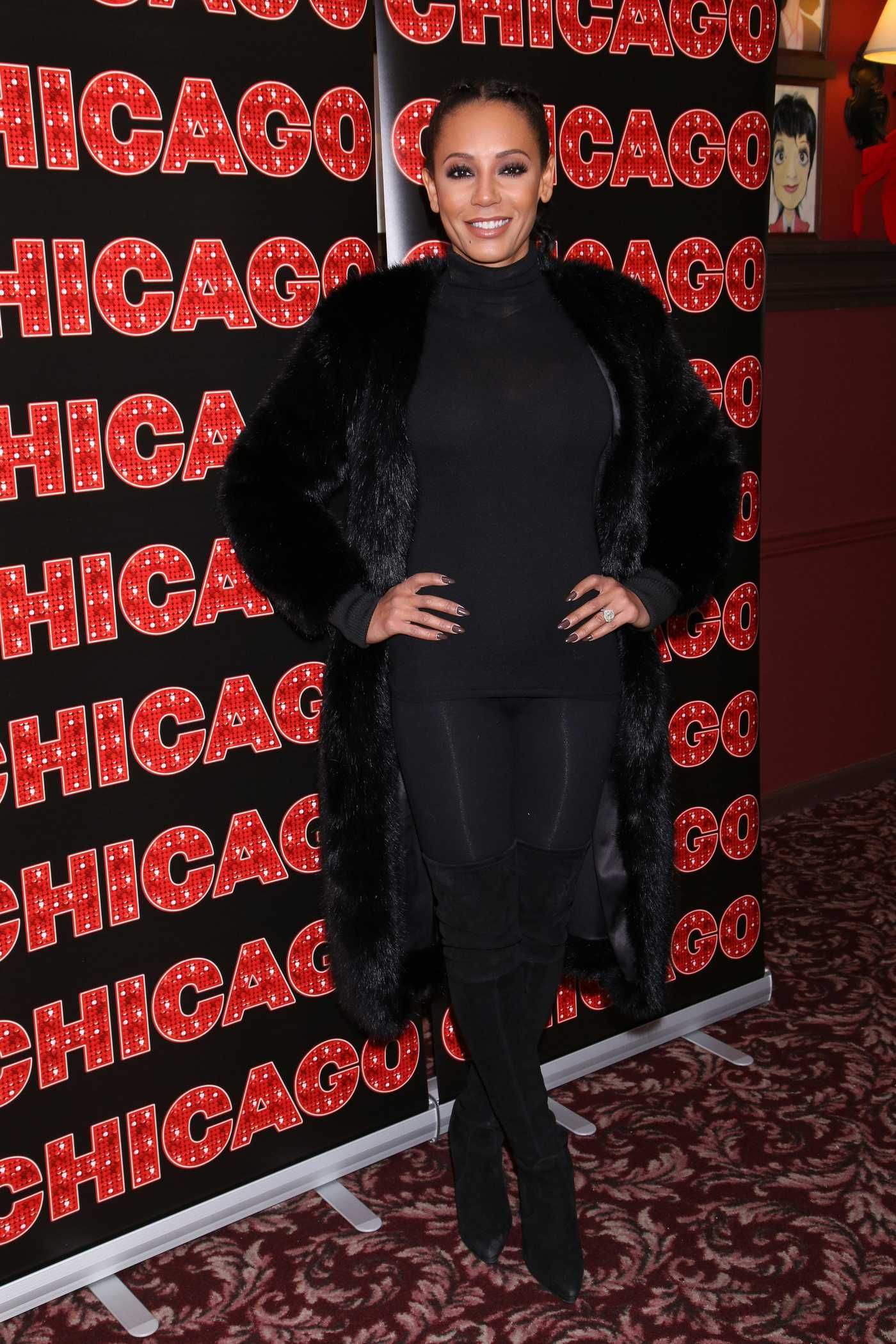 Melanie Brown at the Broadway Musical Chicago Photocall in NY 12/21/2016