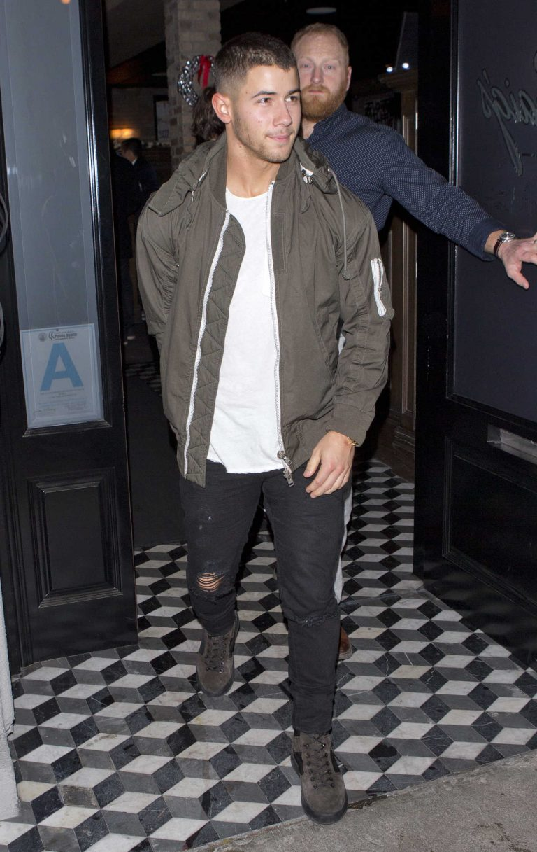 Nick Jonas Leaves Craigs Restaurant in West Hollywood 12/18/2016-1