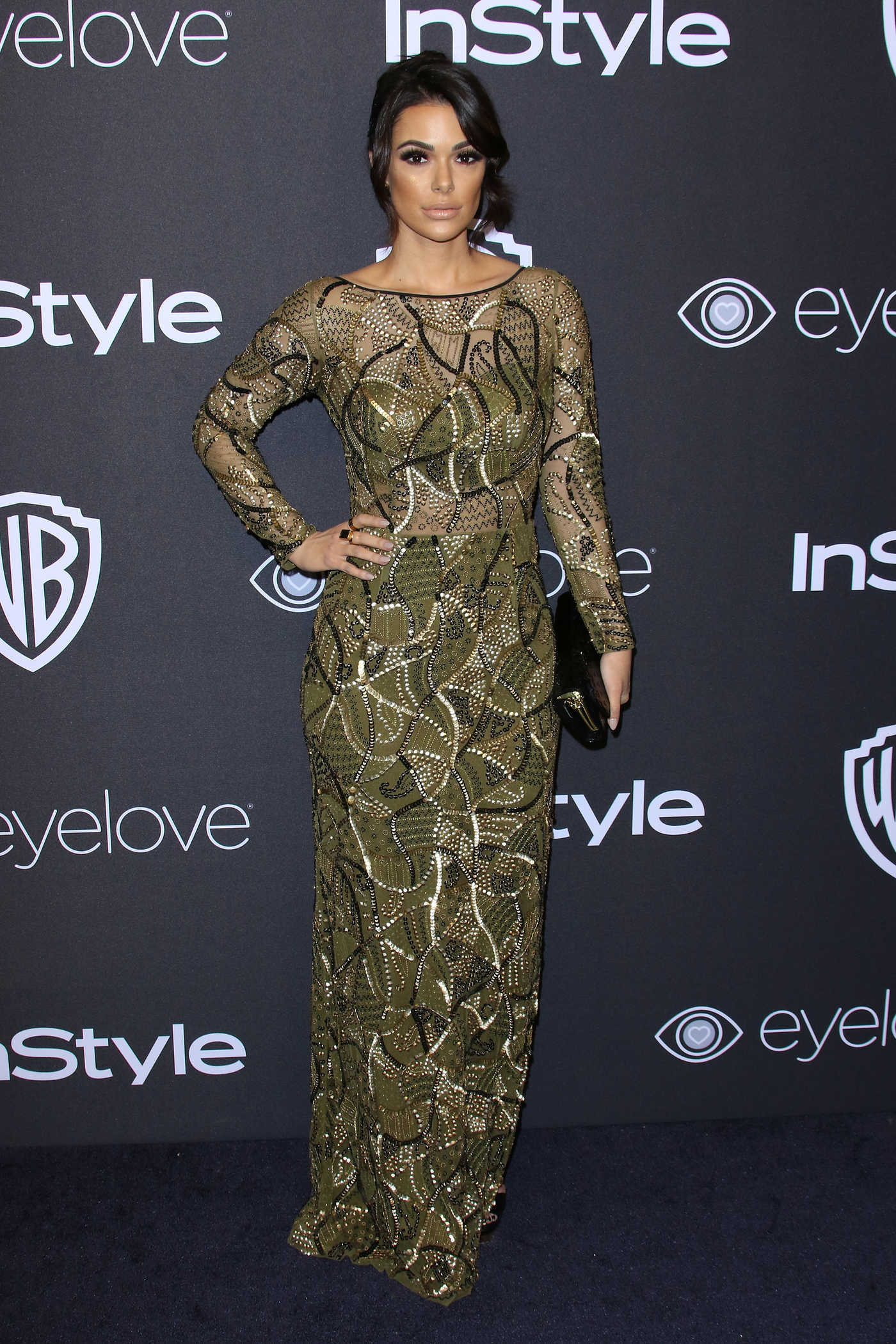Anabelle Acosta at the 18th Annual InStyle Post-Golden Globes Party in Beverly Hills 01/08/2017