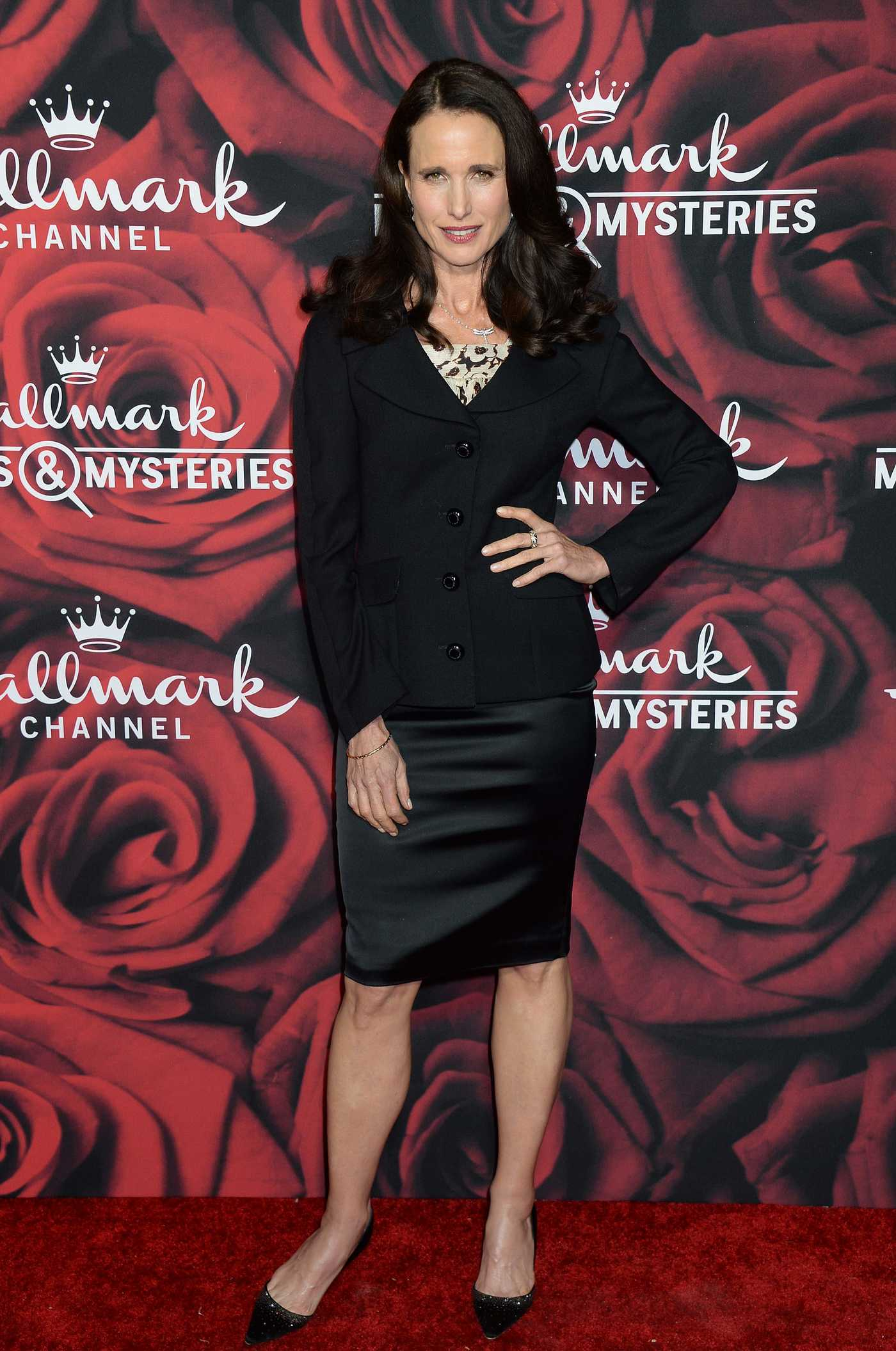 Andie MacDowell at the Hallmark Channel TCA Winter Press Tour in Pasadena 01/14/2017
