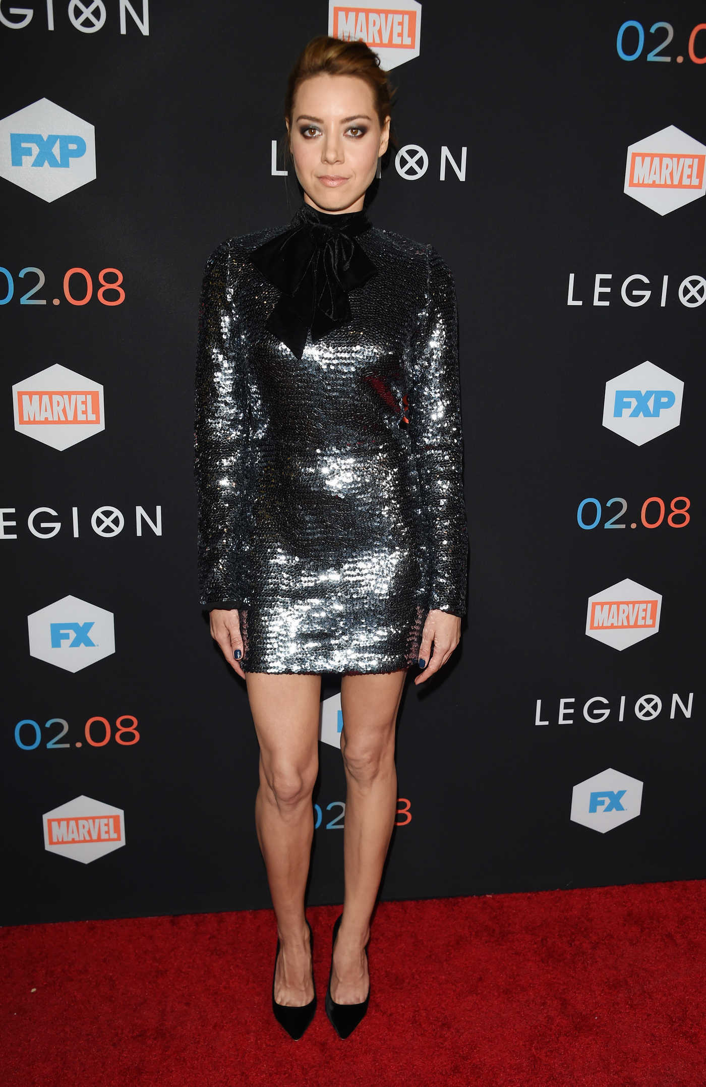 Aubrey Plaza at the Legion TV Series Premiere in Los Angeles 01/26/2017