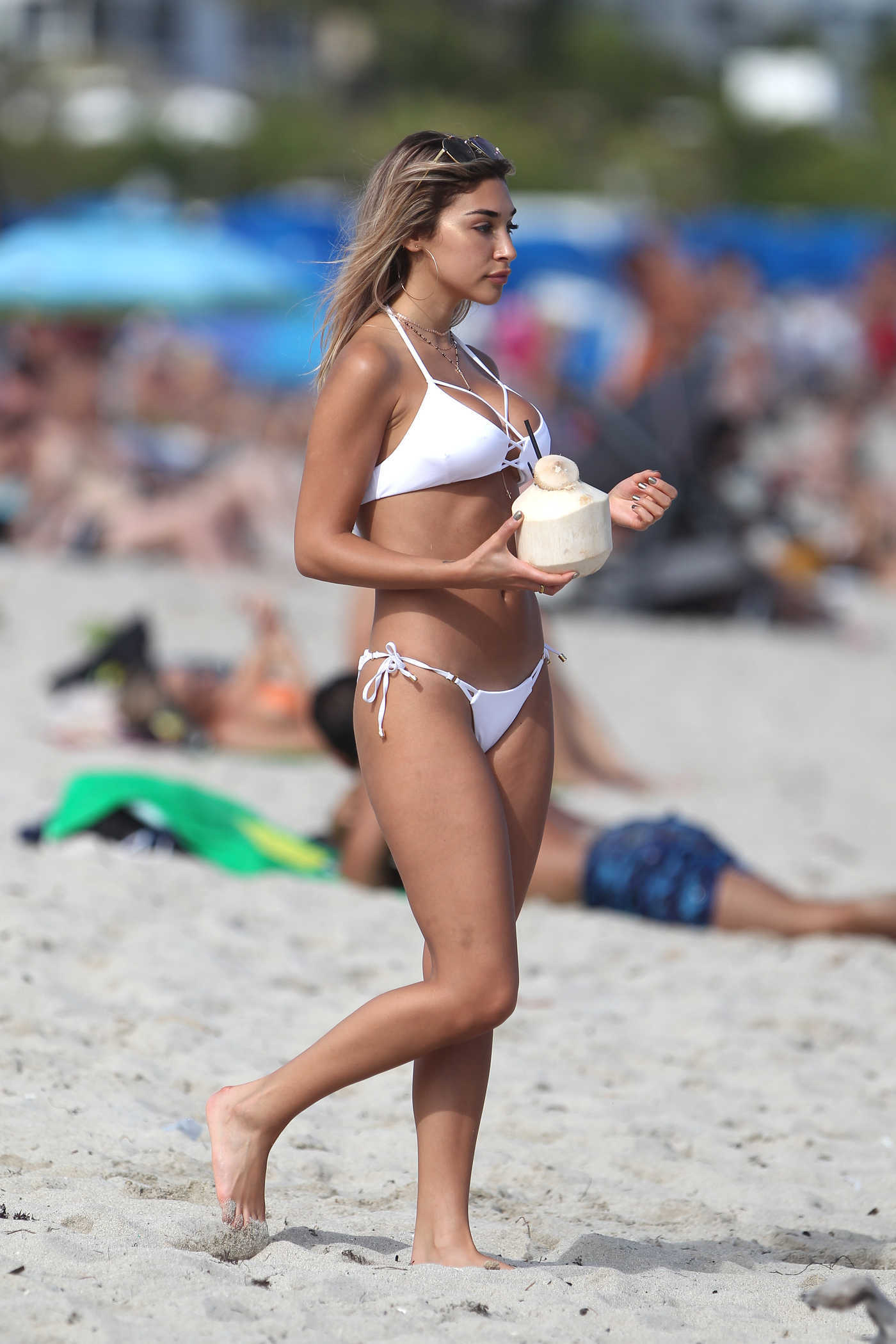 Chantel Jeffries in Bikini at the Beach in Miami 01/06/2017