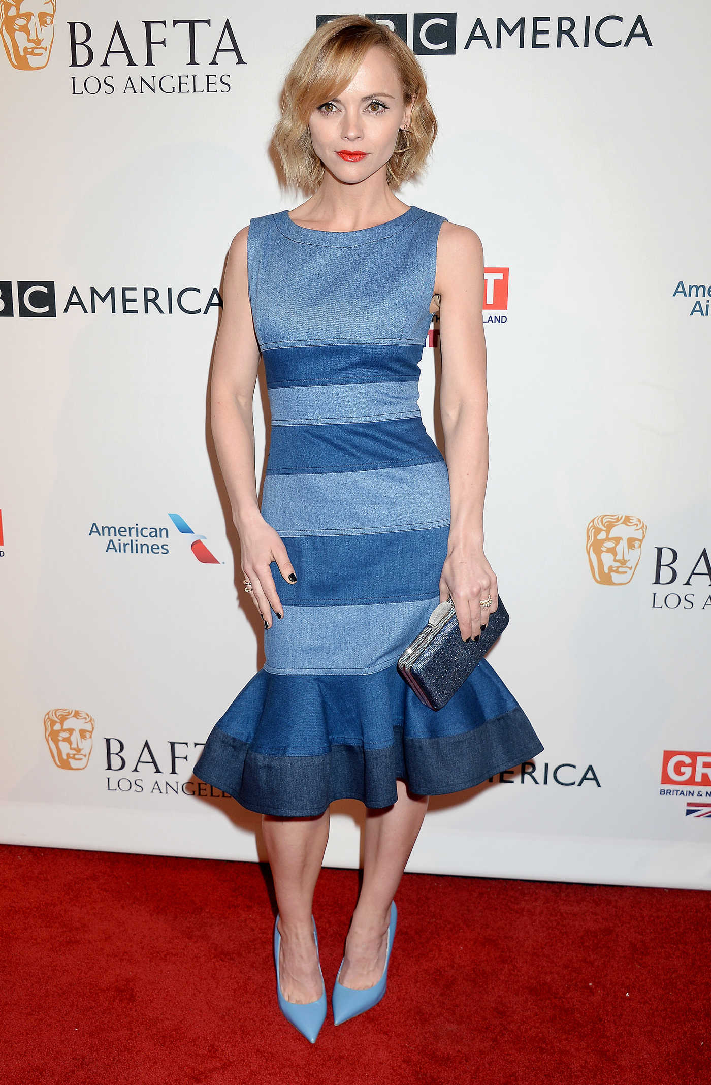 Christina Ricci at the BAFTA Tea Party at Four Seasons Hotel in Los Angeles 01/07/2017