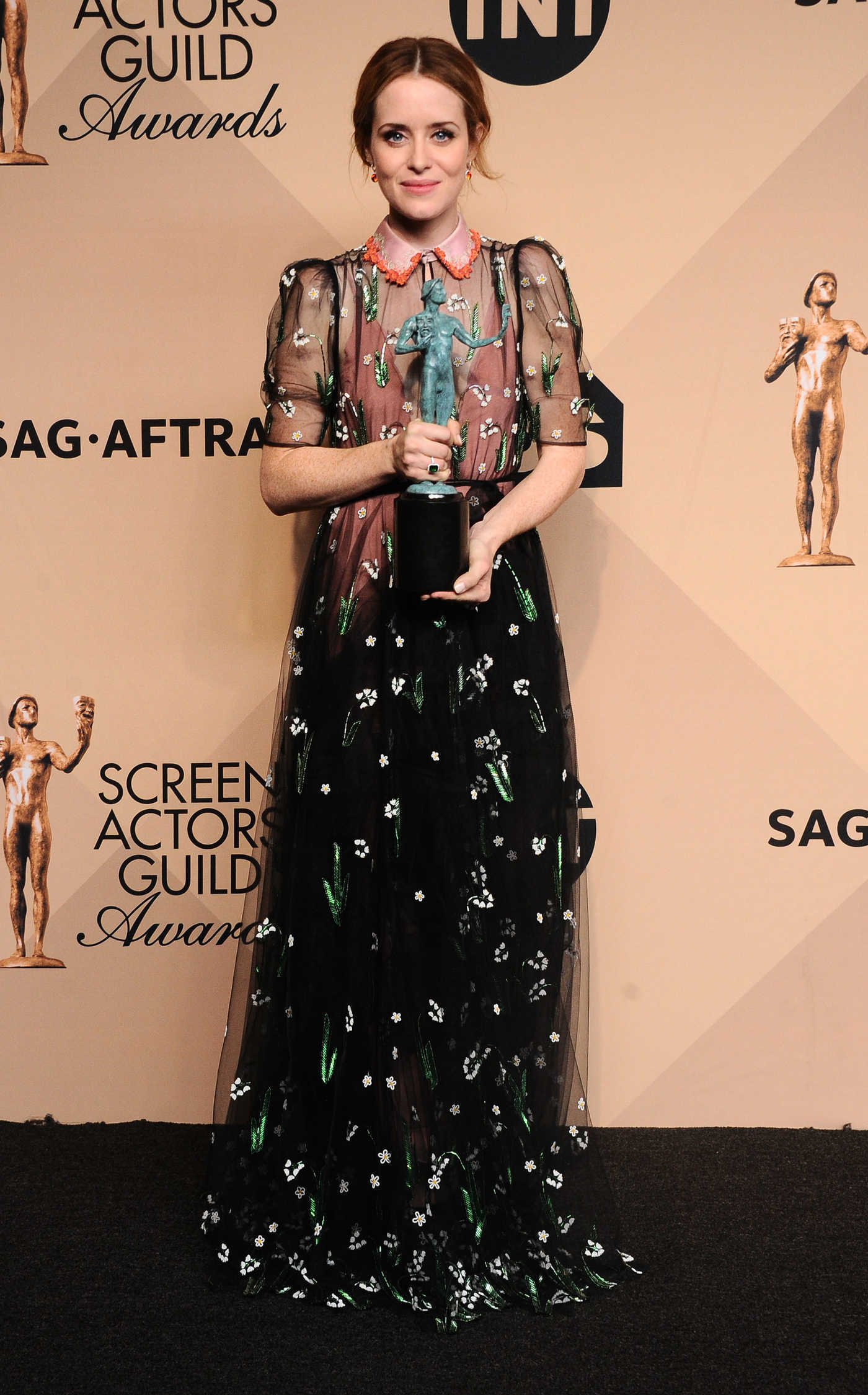 Claire Foy at the 23rd Annual Screen Actors Guild Awards in Los Angeles 01/29/2017