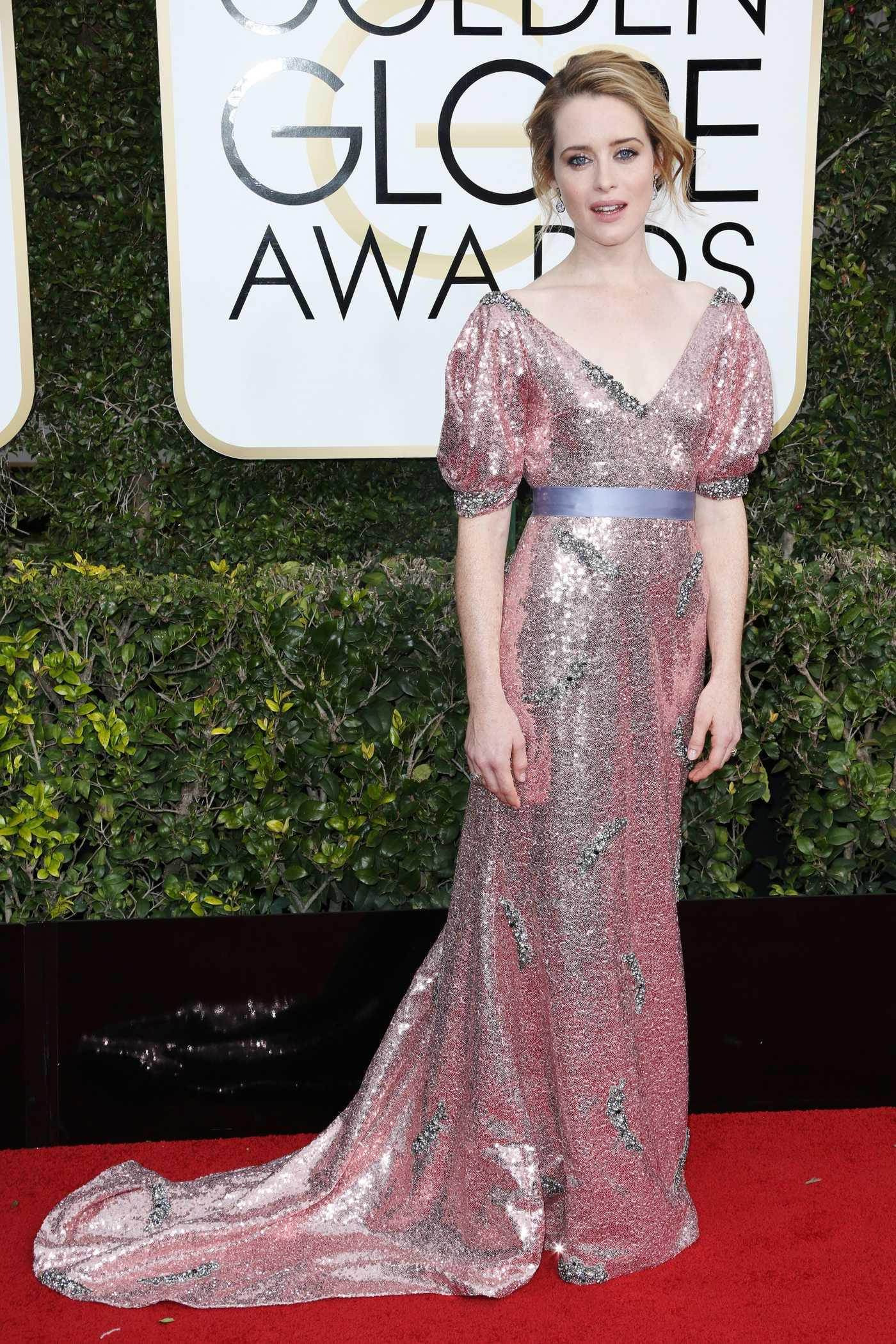 Claire Foy at the 74th Annual Golden Globe Awards in Beverly Hills 01/08/2017