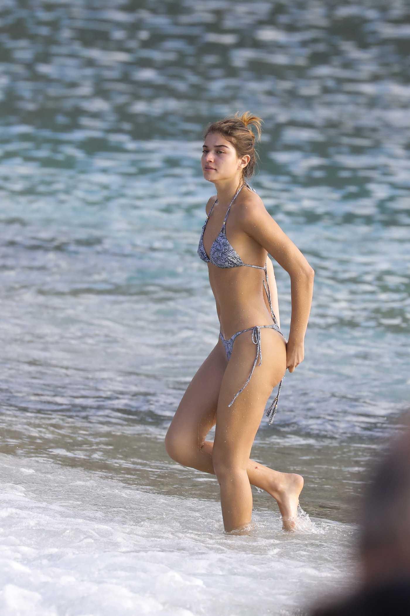 Daniela Lopez in Bikini at the Beach in St Barth 01/15/2017