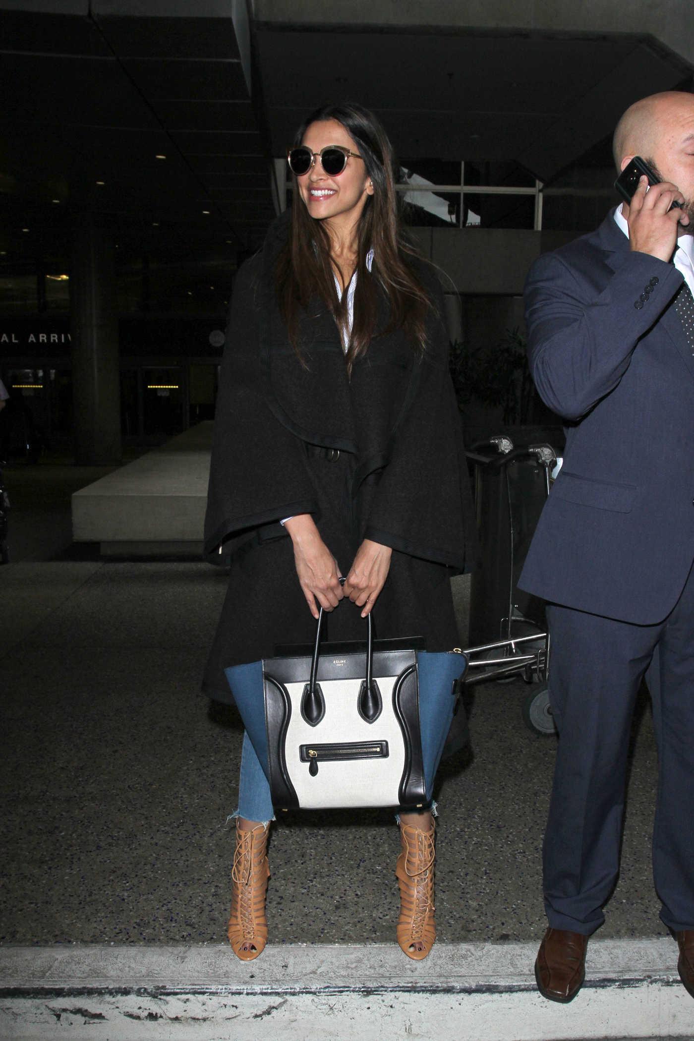 Deepika Padukone Was Seen at LAX Airport in Los Angeles 01/02/2017