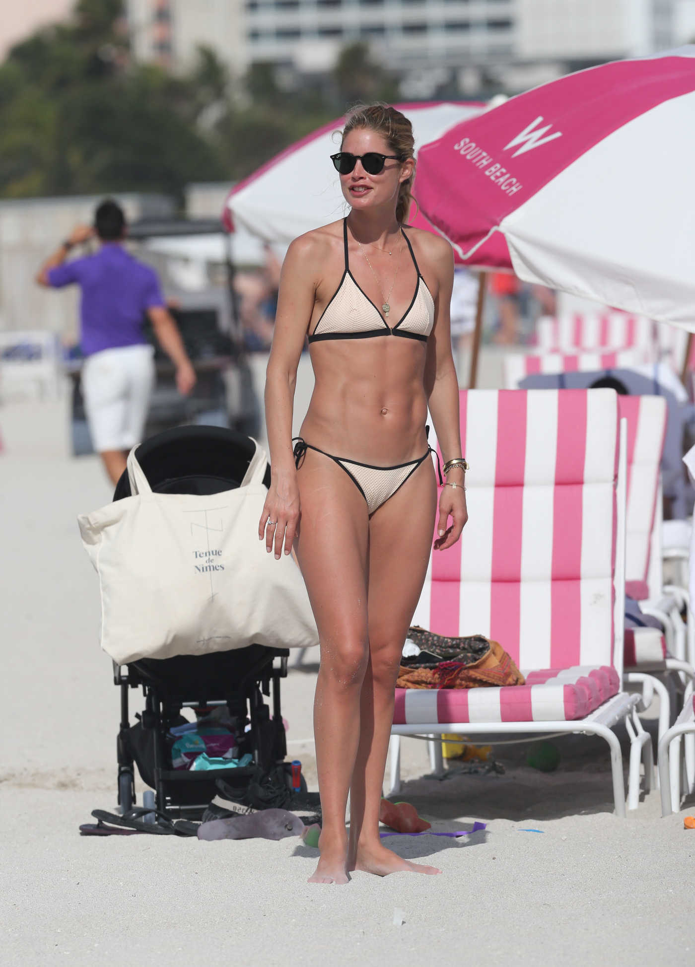 Doutzen Kroes in Bikini at the Beach in Miami 12/31/2016