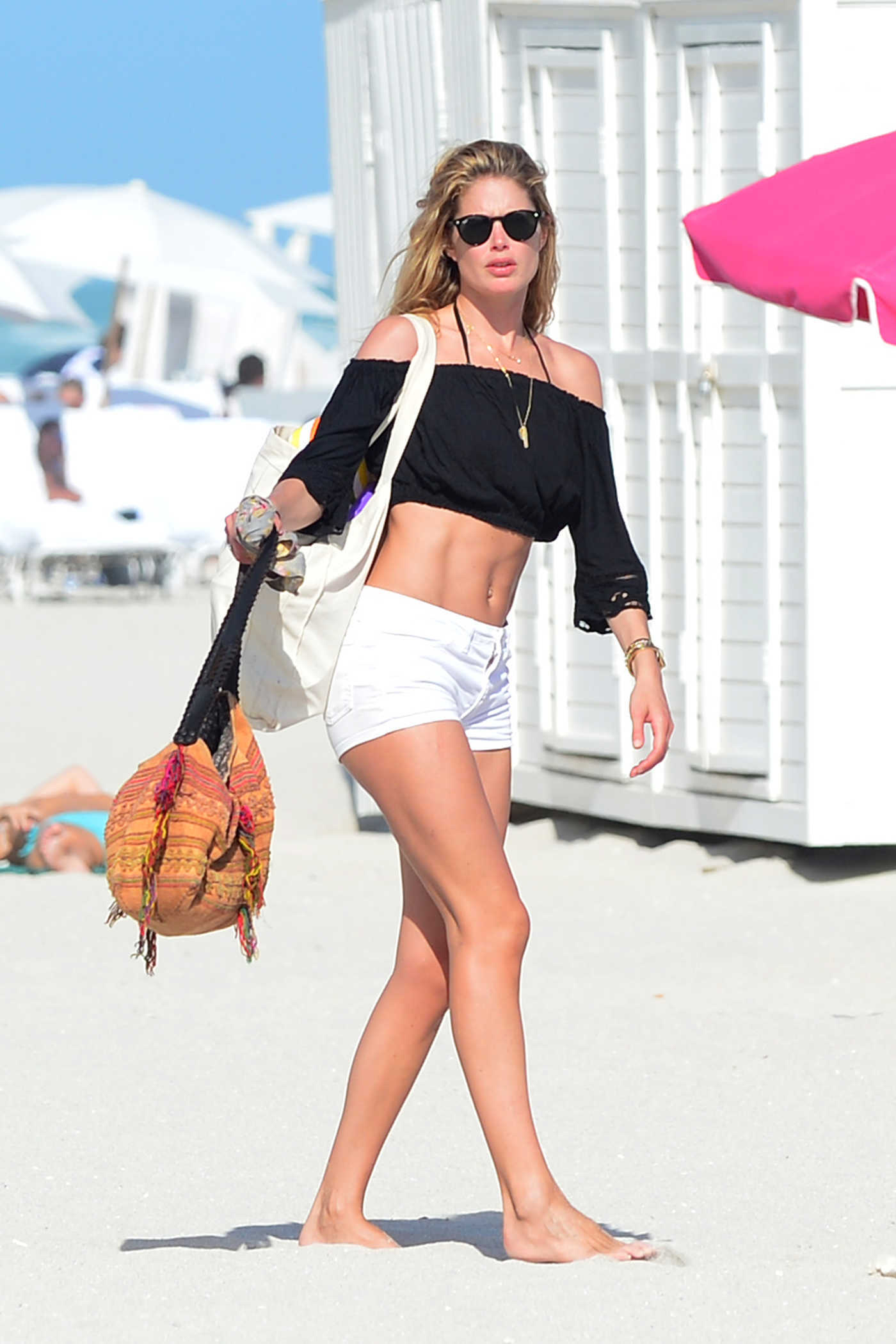 Doutzen Kroes Was Seen at the Beach in Miami 01/02/2017