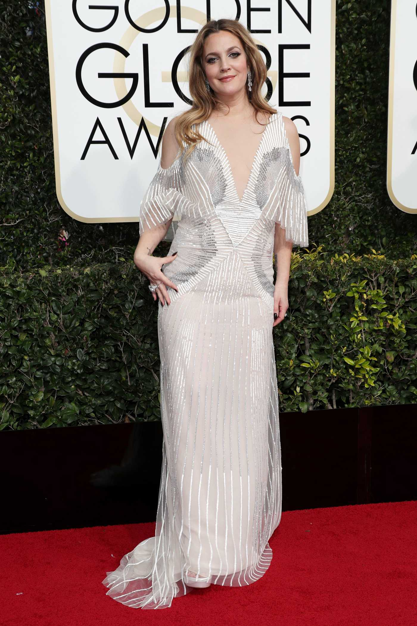 Drew Barrymore at the 74th Annual Golden Globe Awards in Beverly Hills 01/08/2017