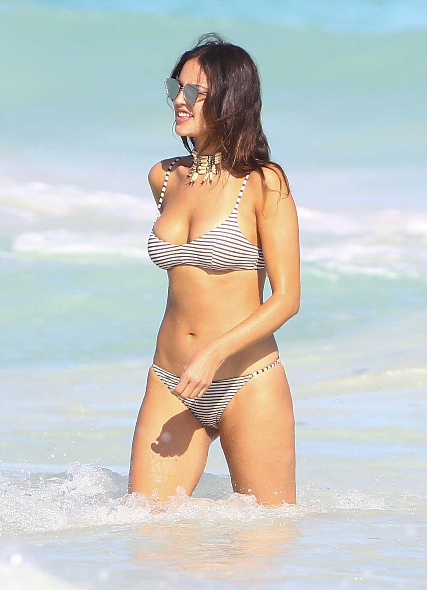 Eiza Gonzalez in Bikini at the Beach in Mexico 01/01/2017