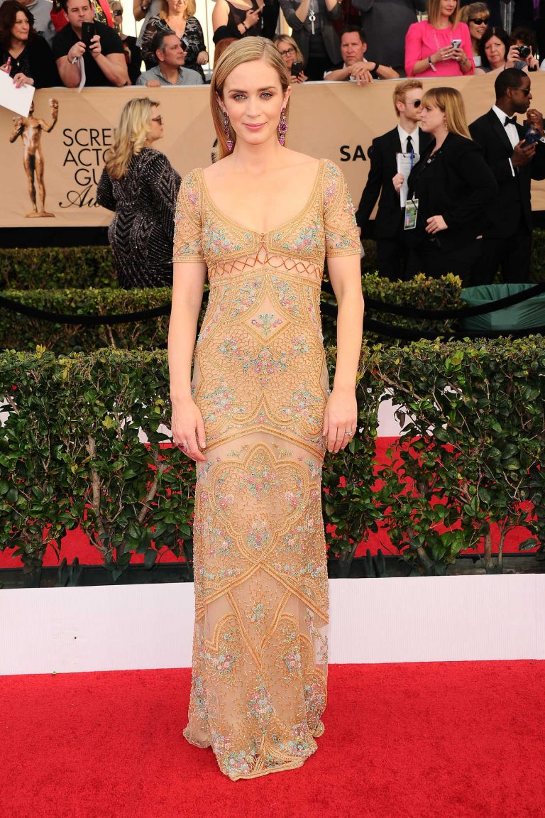 Emily Blunt at the 23rd Annual Screen Actors Guild Awards in Los Angeles 01/29/2017-1