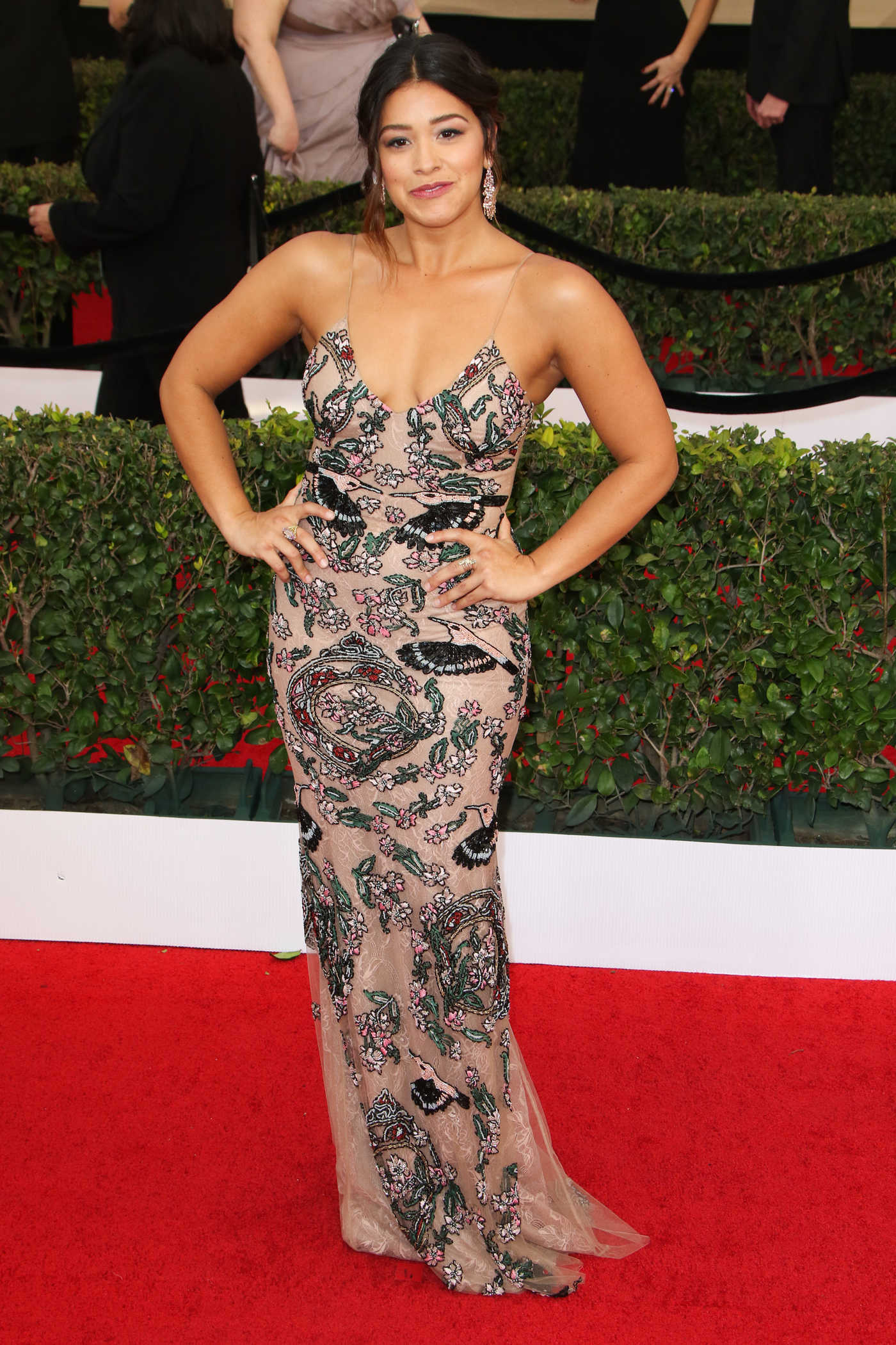 Gina Rodriguez at the 23rd Annual Screen Actors Guild Awards in Los Angeles 01/29/2017