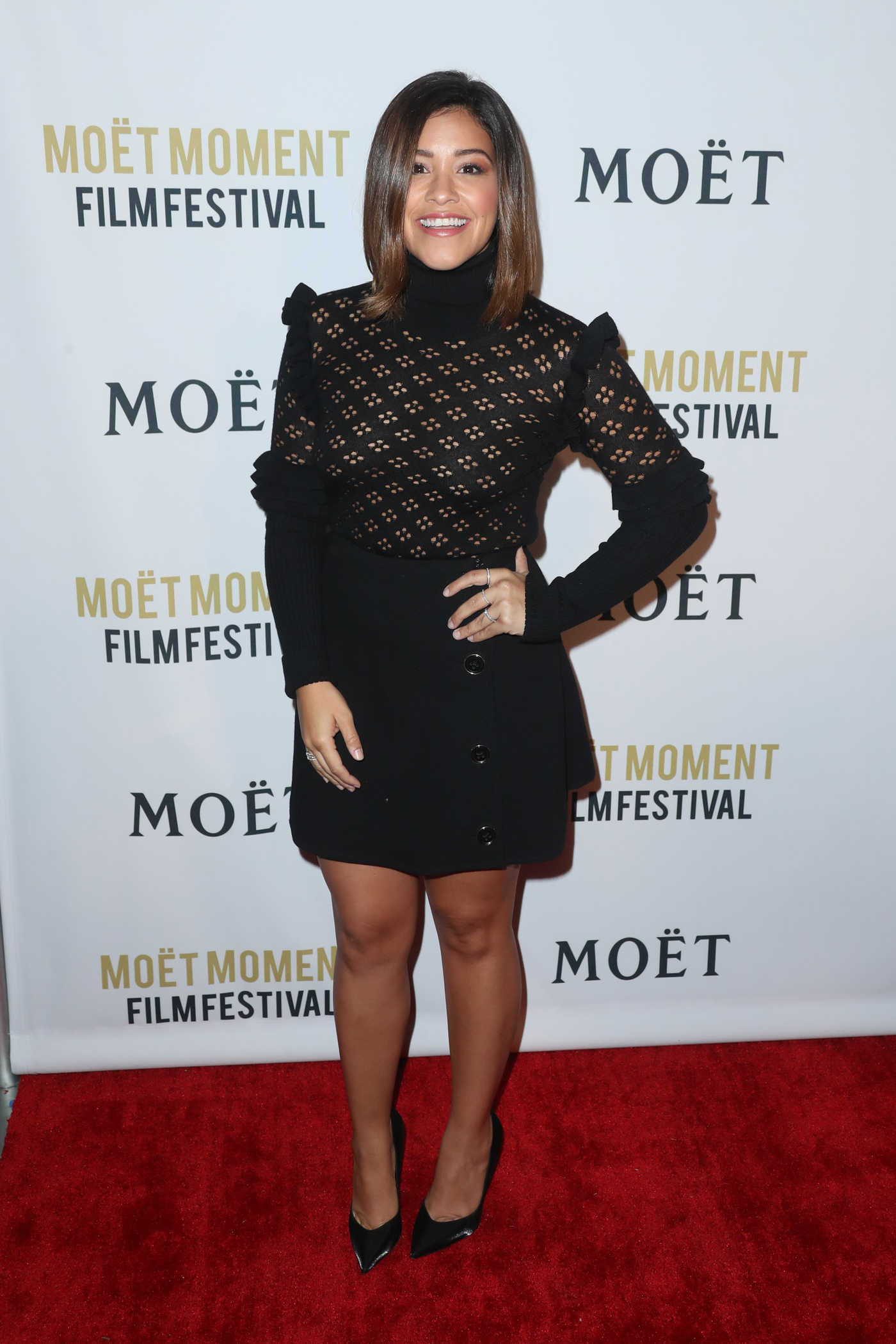 Gina Rodriguez at the 2nd Annual Moet Moment Film Festival in Los Angeles 01/04/2017