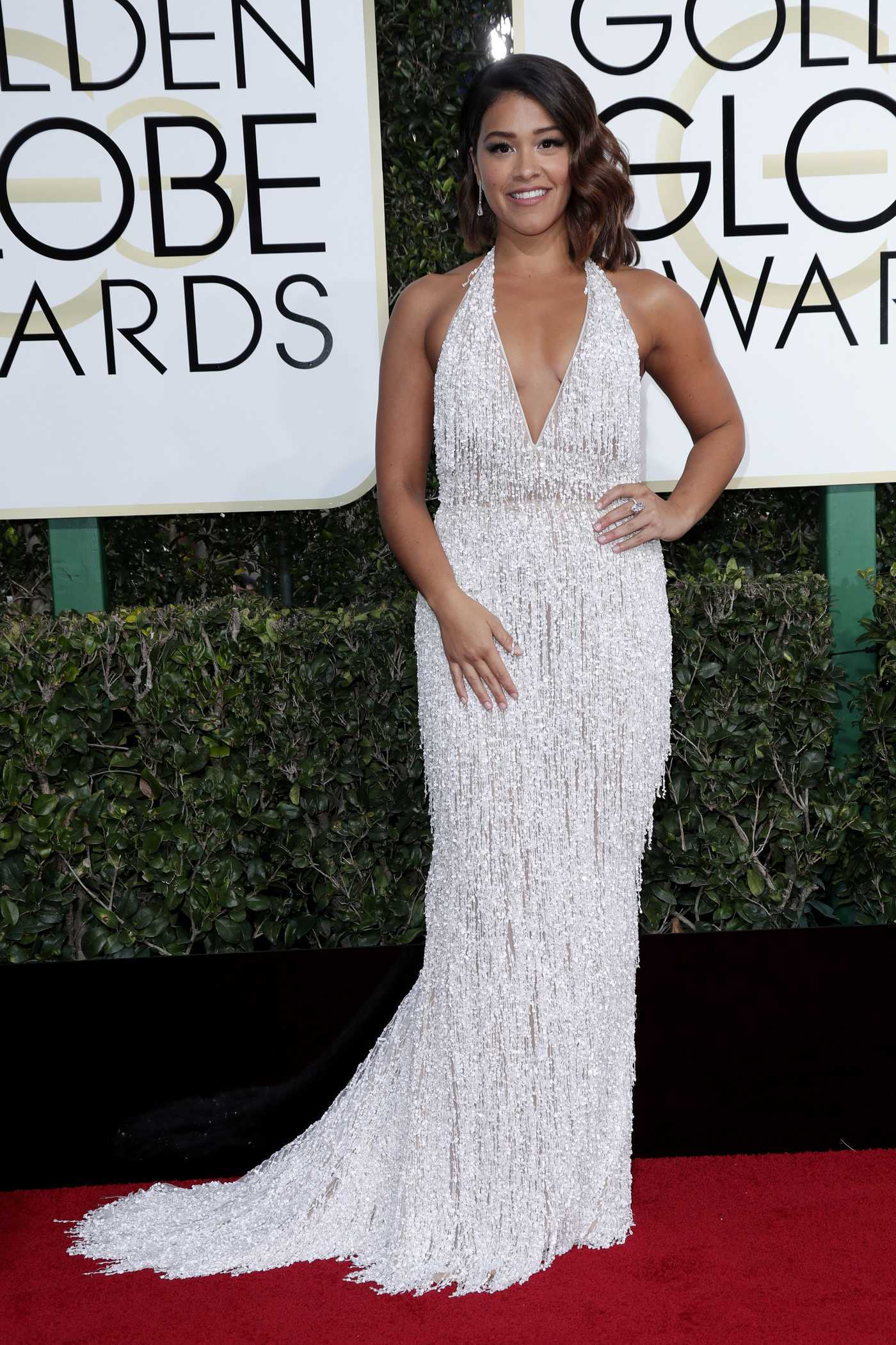 Gina Rodriguez at the 74th Annual Golden Globe Awards in Beverly Hills 01/08/2017