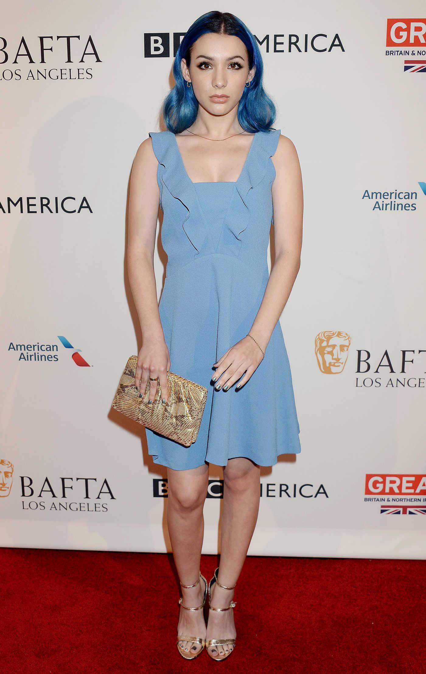 Hannah Marks at the BAFTA Tea Party at Four Seasons Hotel in Los Angeles 01/07/2017