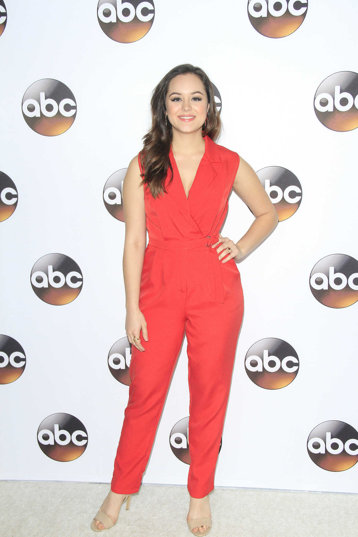 Hayley Orrantia at the Disney ABC Television Hosts TCA Winter Press Tour in Pasadena 10/01/2017