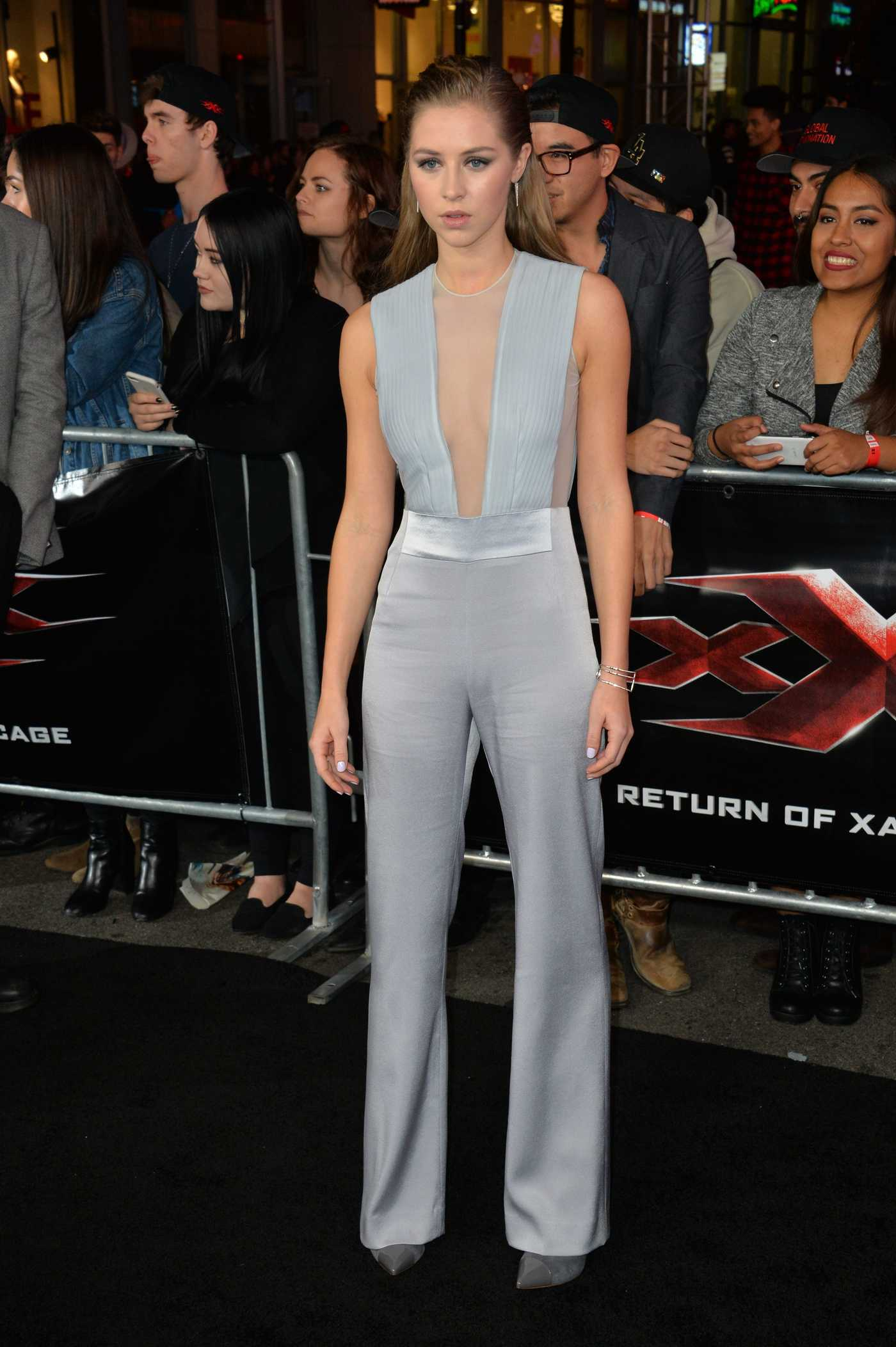 Hermione Corfield at the XXX: Return of Xander Cage Premiere at the TCL Chinese Theatre in Los Angeles 01/19/2017