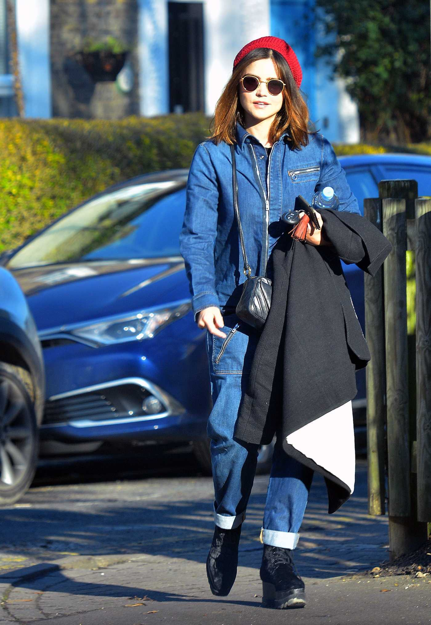 Jenna-Louise Coleman Was Seen Out in London 01/25/2017