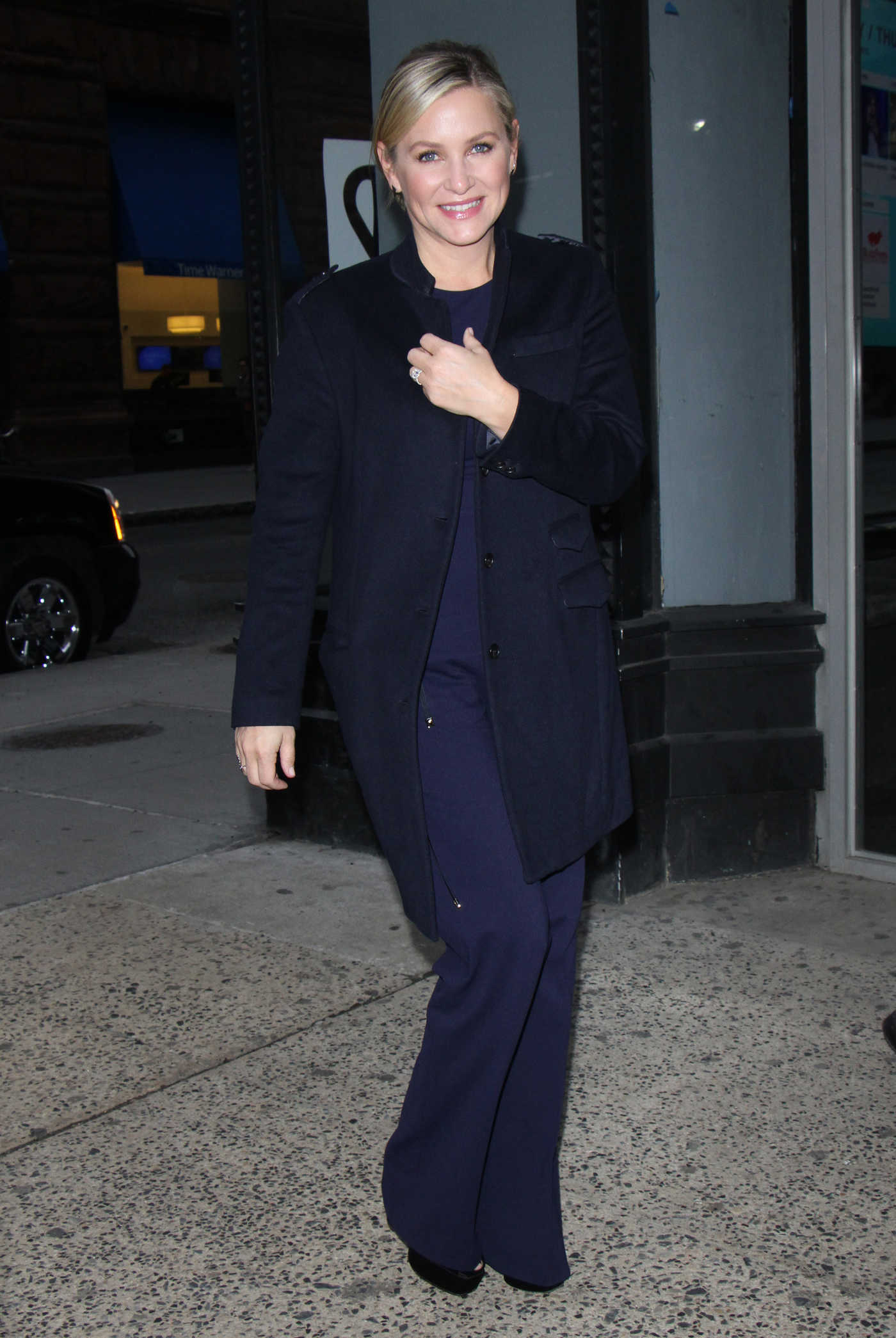 Jessica Capshaw Arrives at AOL Build Studios in New York 01/19/2017