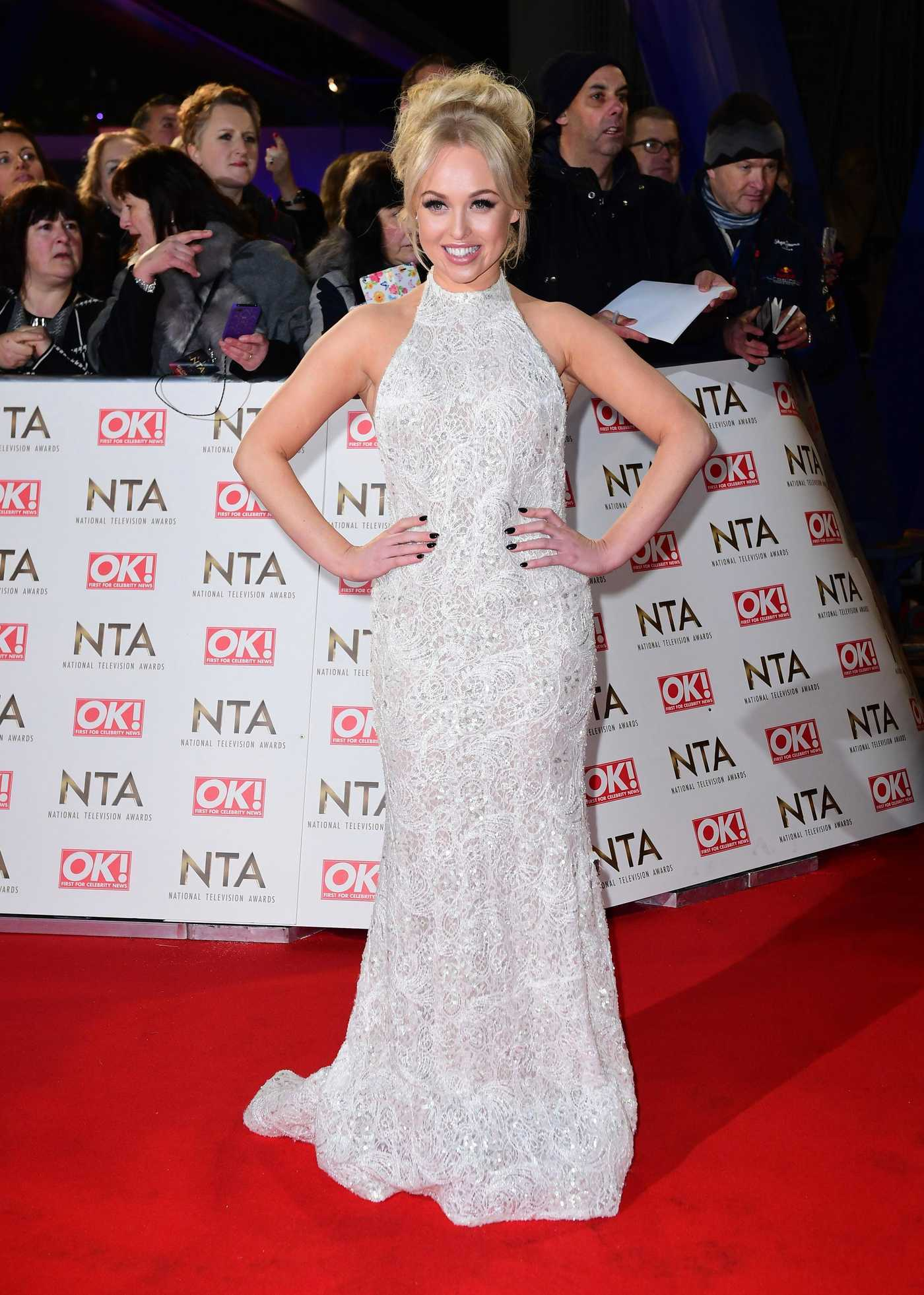 Jorgie Porter at the National Television Awards in London 01/25/2017