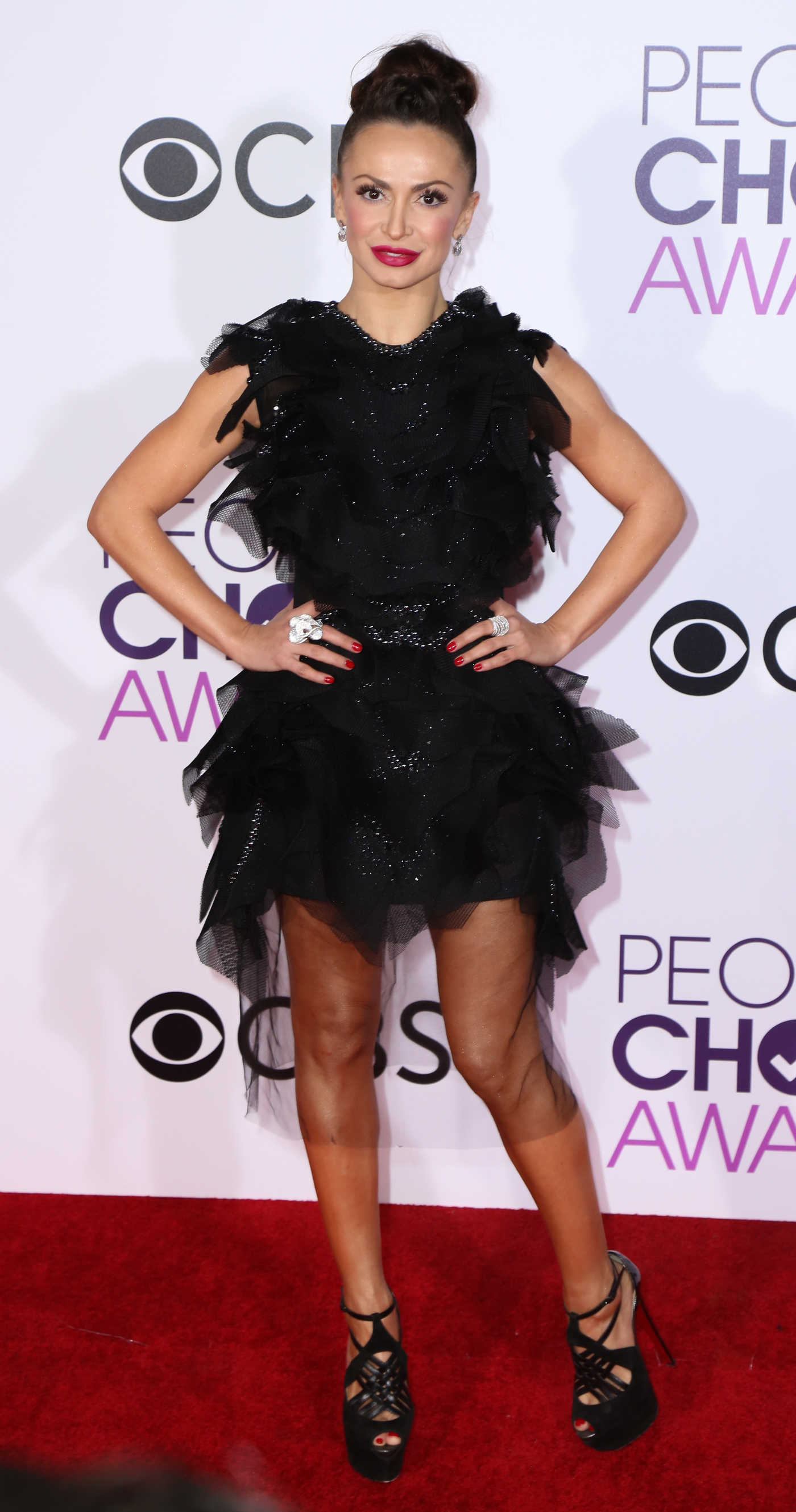 Karina Smirnoff at the 43rd Annual People's Choice Awards in Los Angeles 01/18/2017