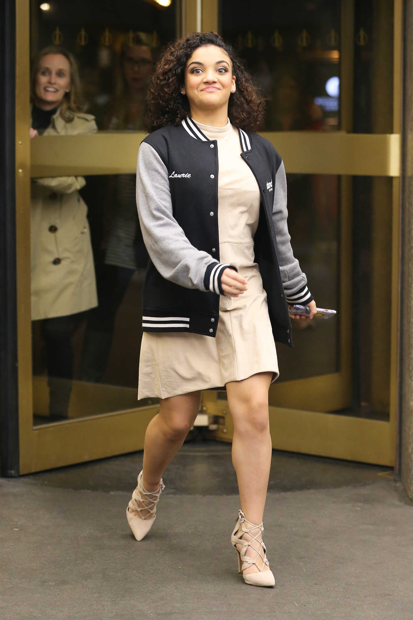 Laurie Hernandez Leaves the New York Live! in New York City 01/23/2017