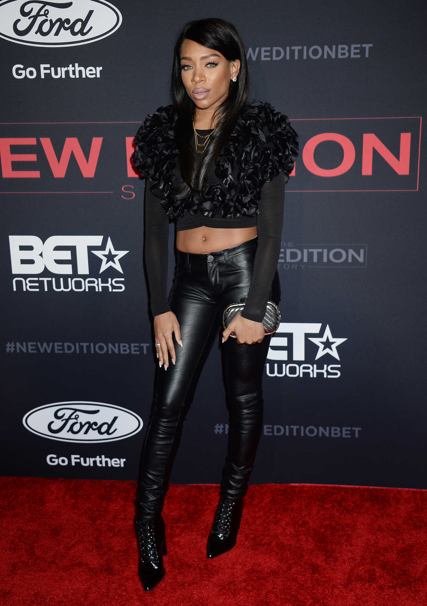 Lil Mama at The New Edition Story Premiere in Hollywood 01/23/2017